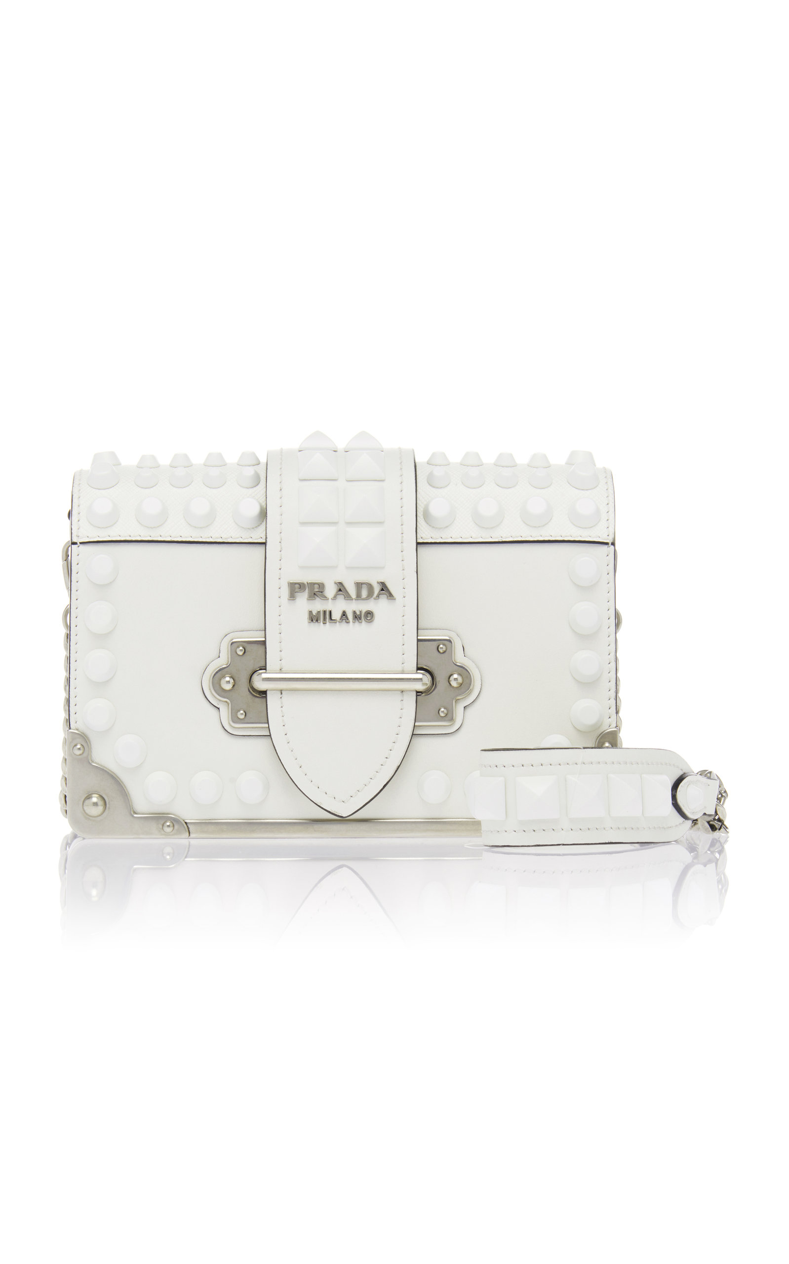 69c29f8a74b4 ... promo code for embellished cahier leather shoulder bag by prada moda  operandi da384 1d1ca