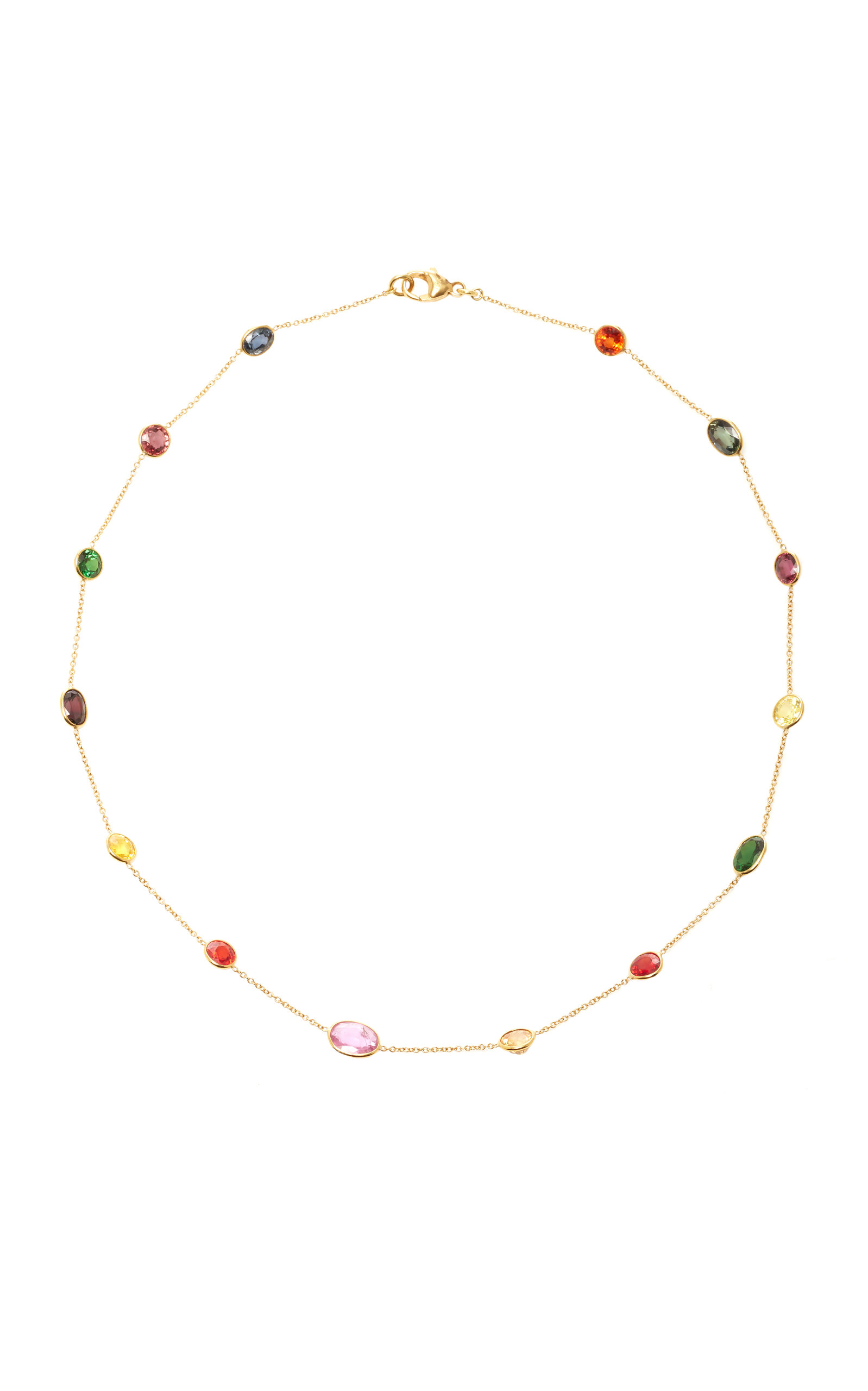 sapphire llynstrong multicolored pin gold and yellow com necklace by llyn