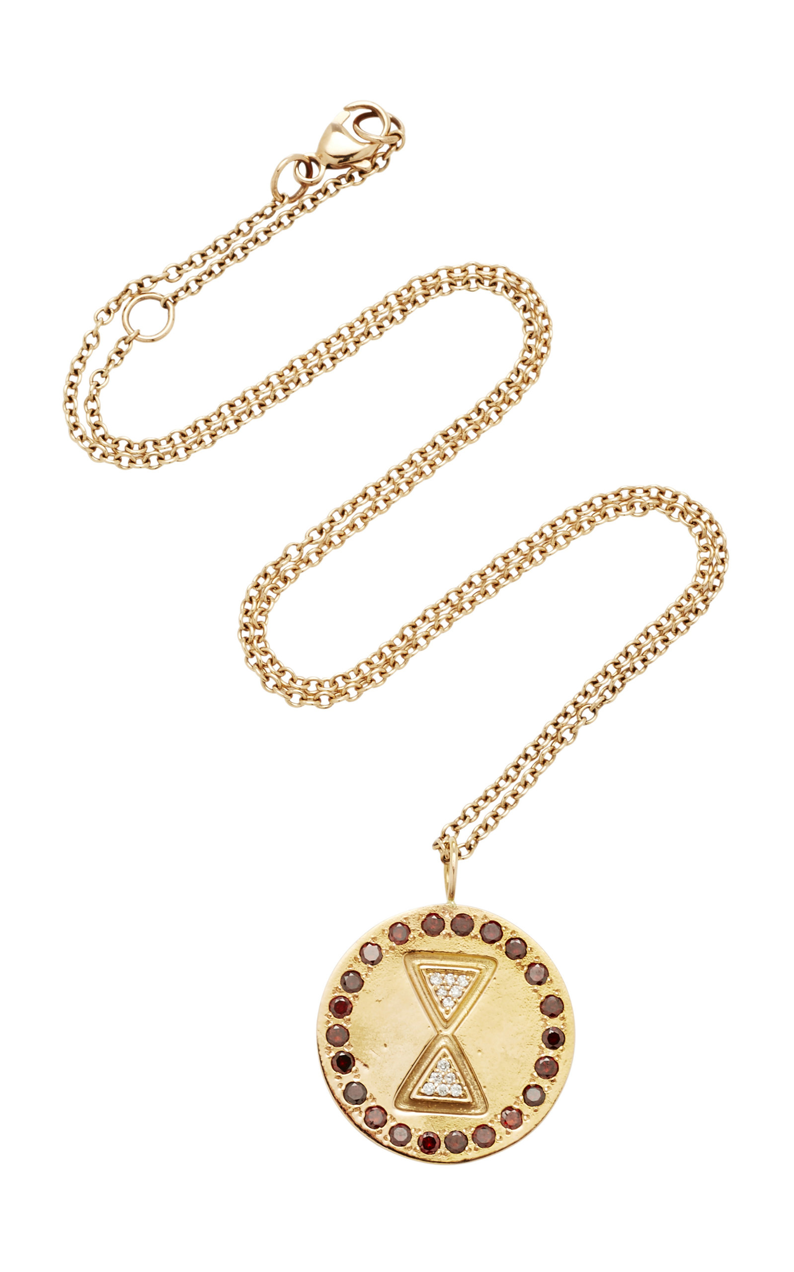 MISAHARA UNITY CHARM 18K ROSE GOLD DIAMOND NECKLACE