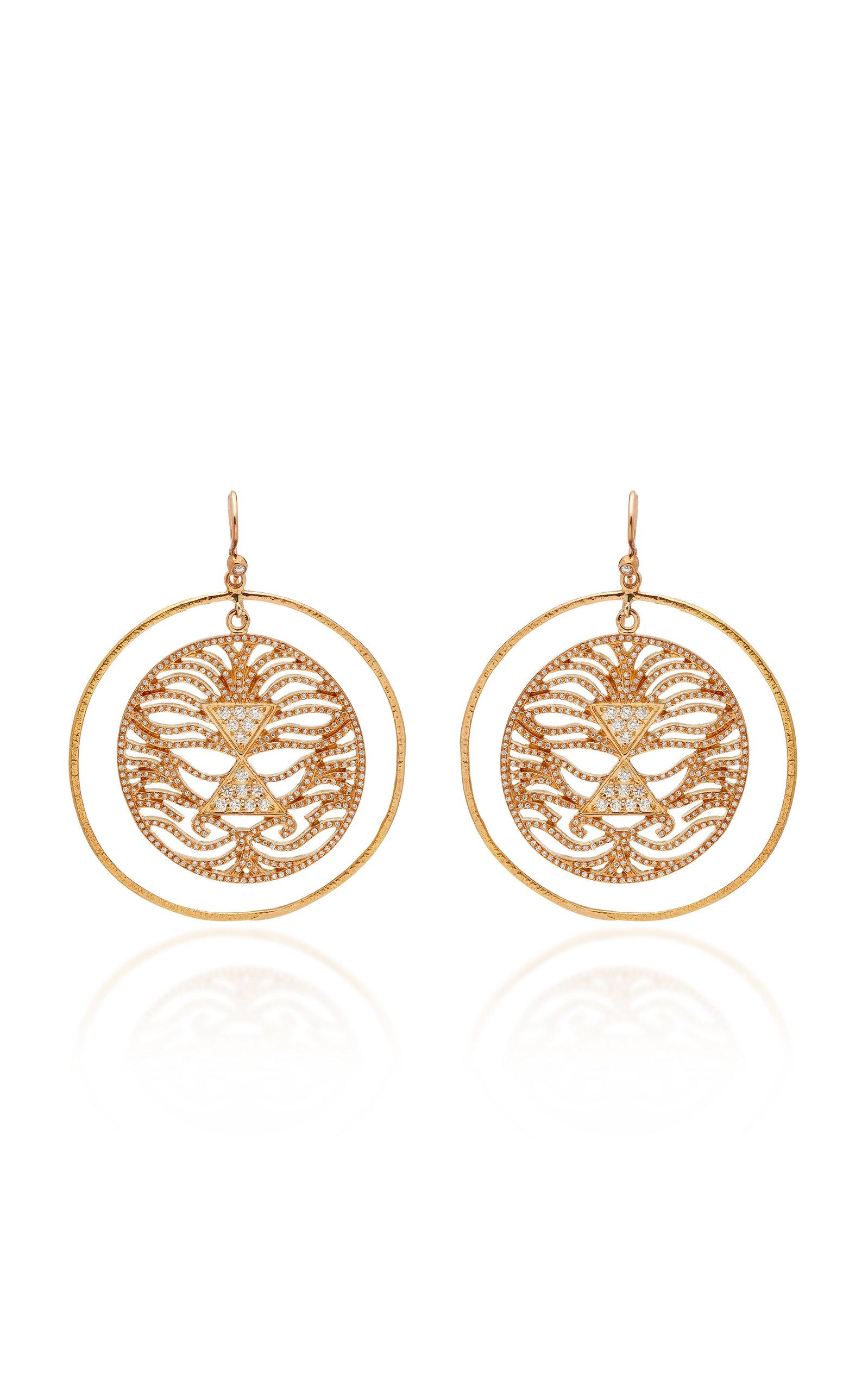 MISAHARA LAVI 18K ROSE GOLD DIAMOND EARRINGS