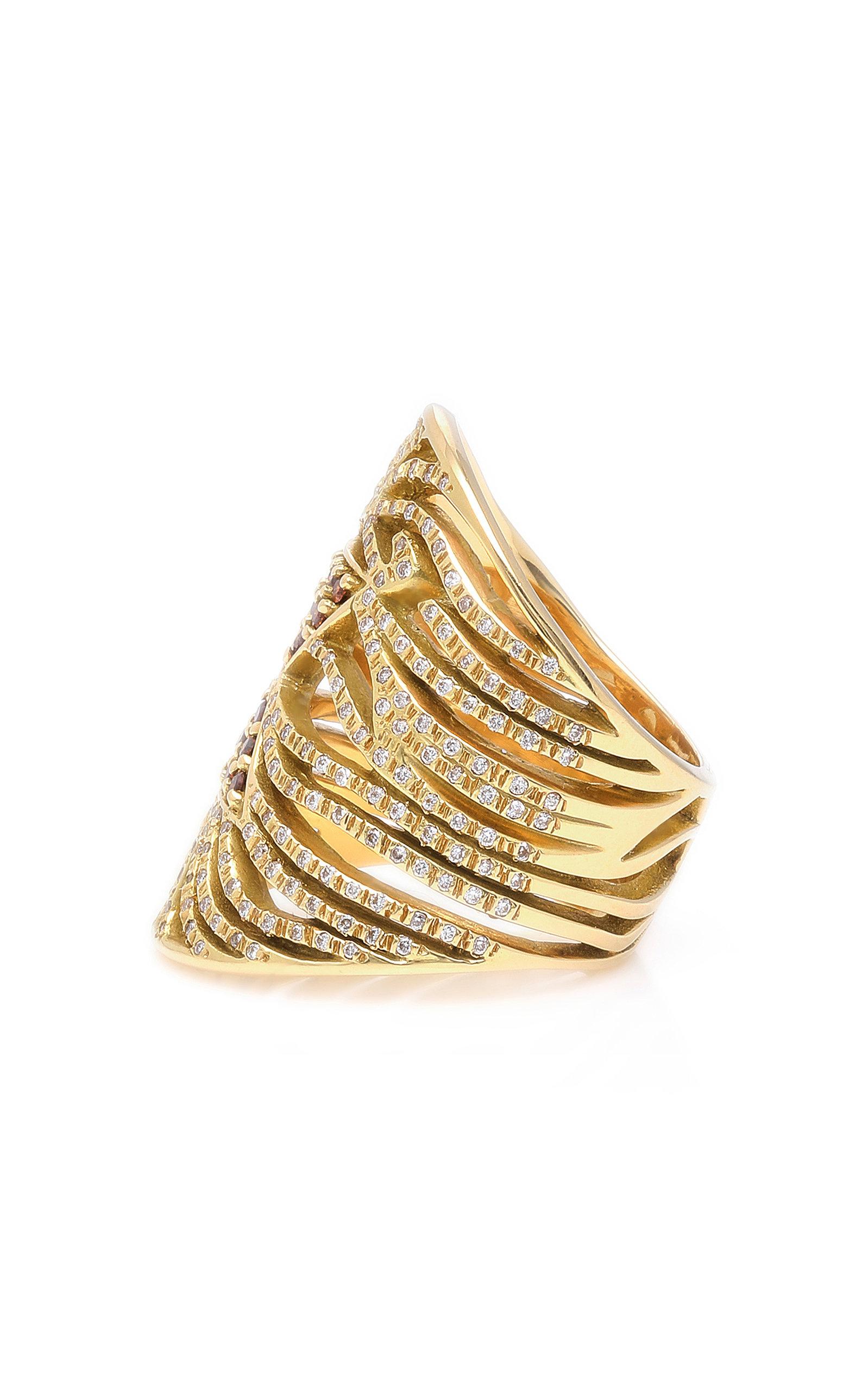 Usama 18K Gold Diamond Ring Misahara MYJHwpe