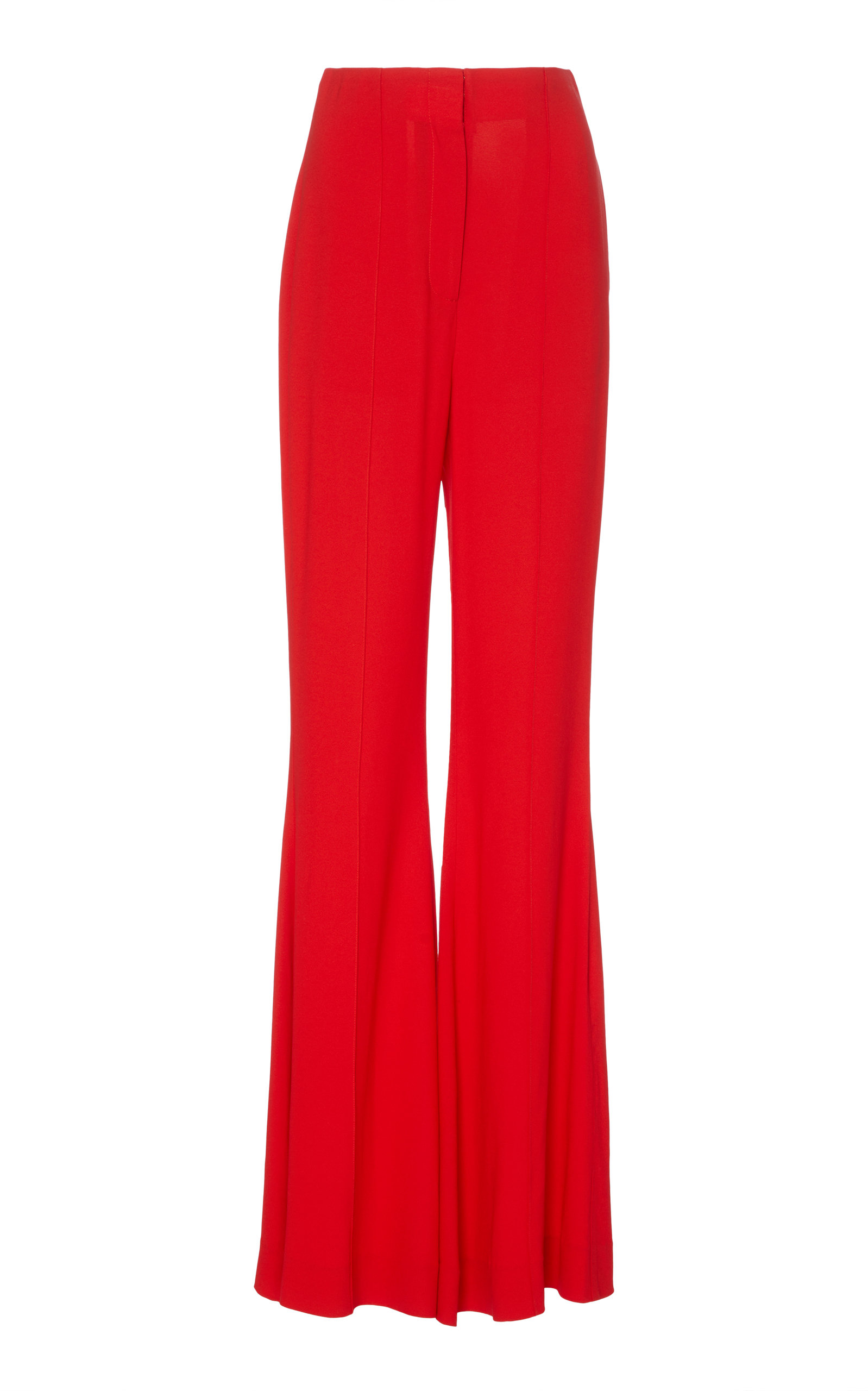 High Waisted Flare Pant, Red