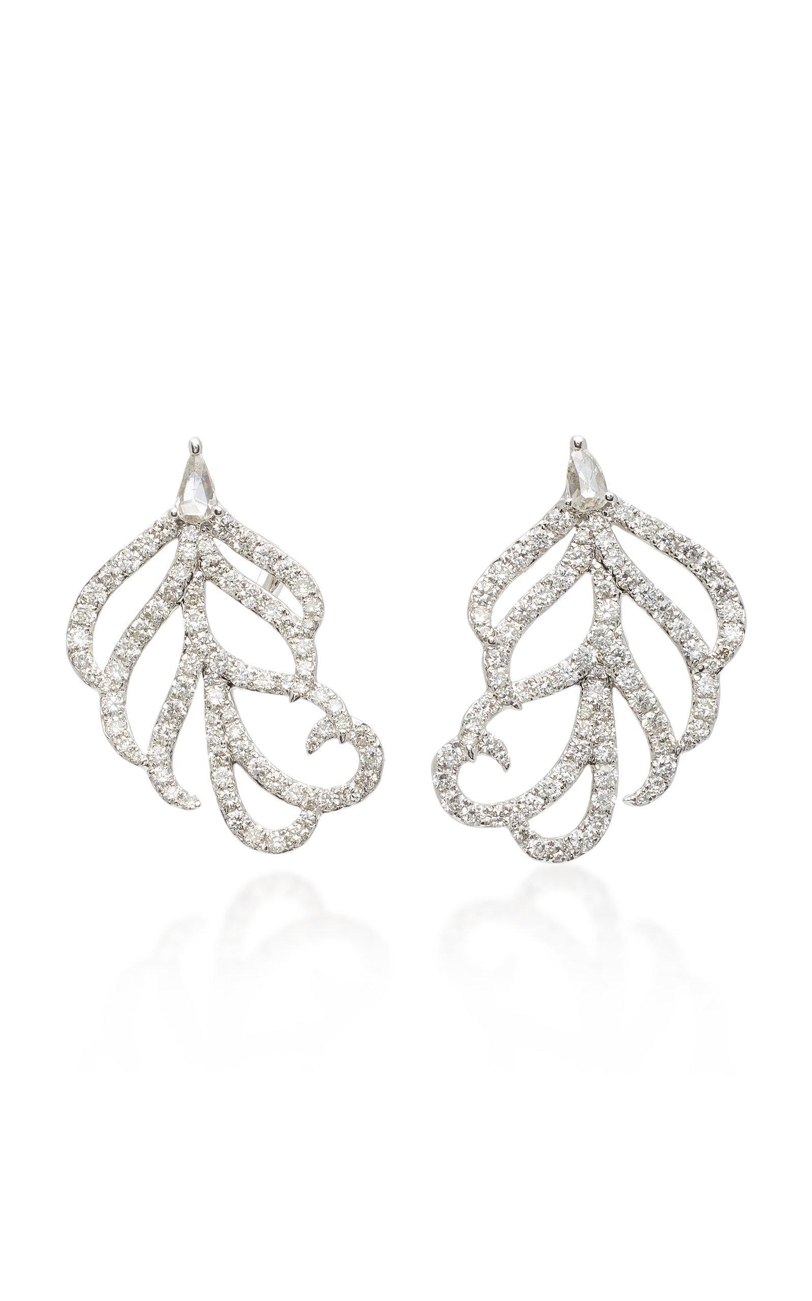 SUTRA 18K White Gold Diamond Earrings