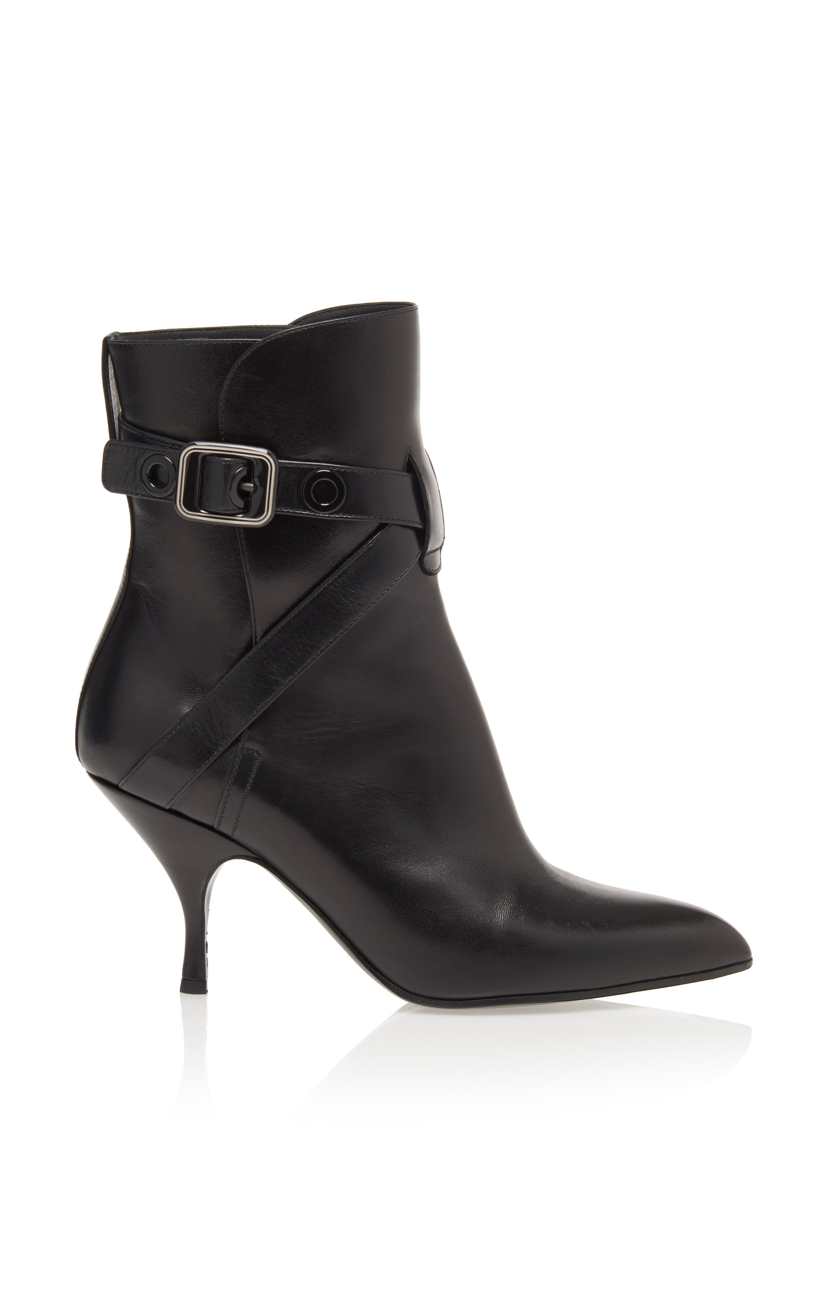 Goatskin Ankle Boots, Black