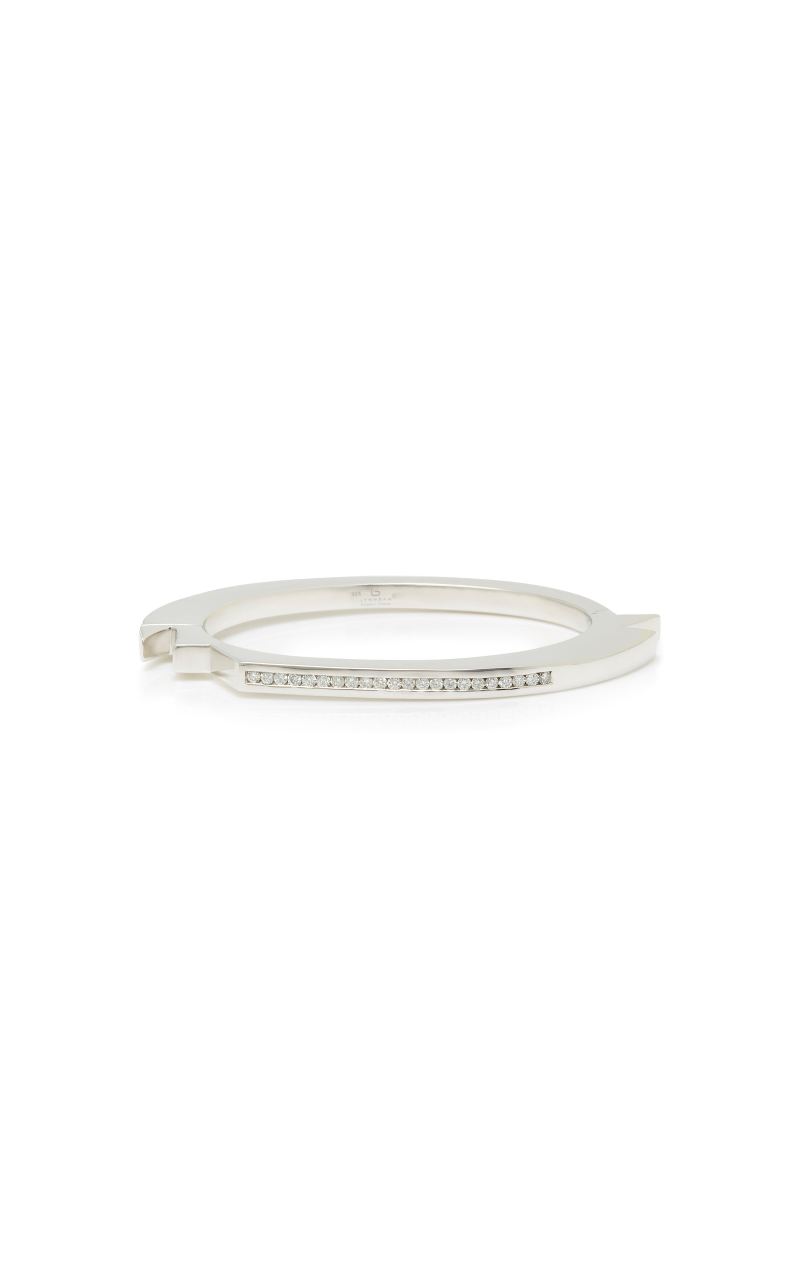 jewelry macy tw featured bangle lyst macys ct silver diamond designer s metallic bangles sterling bracelet in