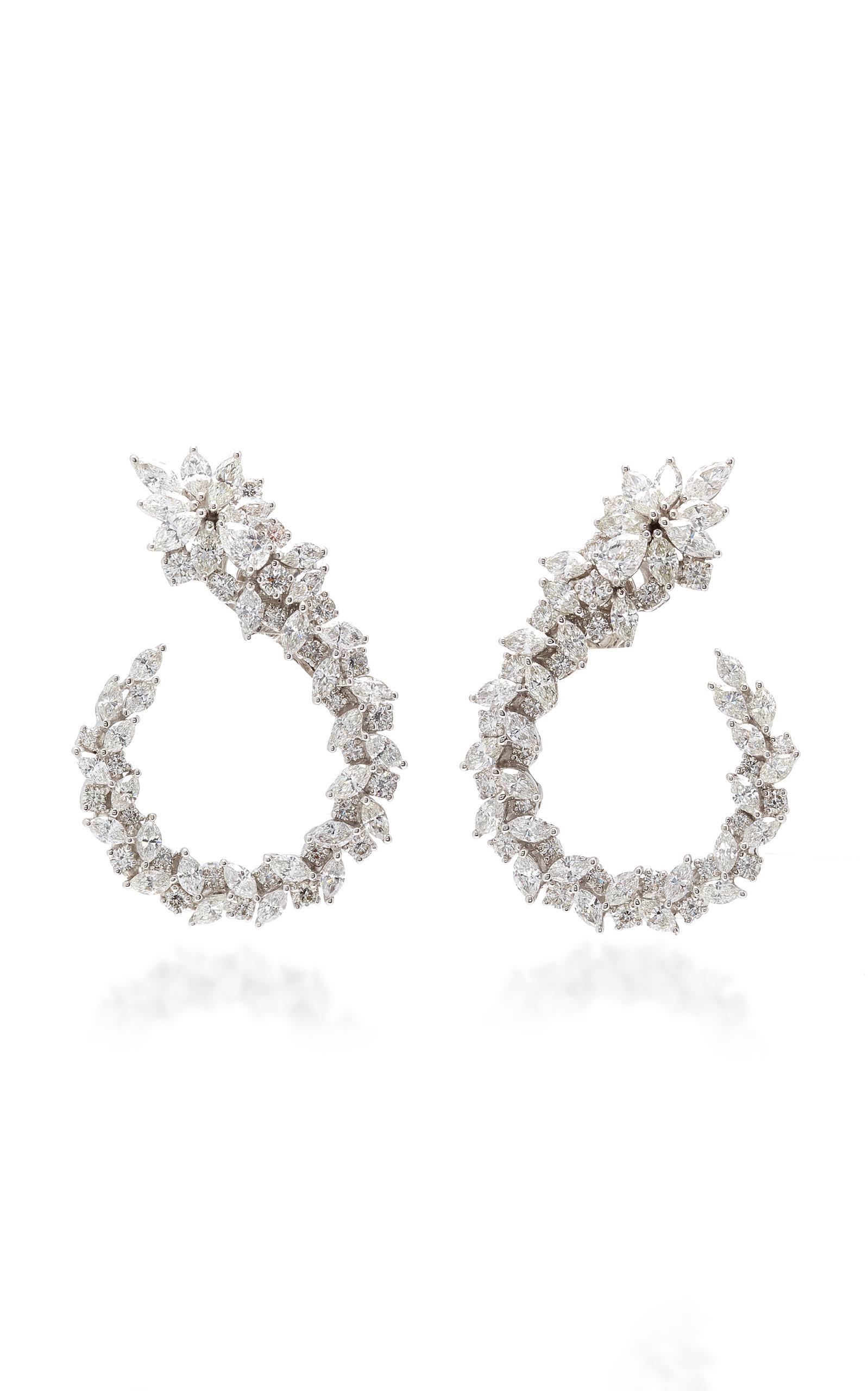 Yeprem Chevalier Diamond Wing Earrings W3HRIK4