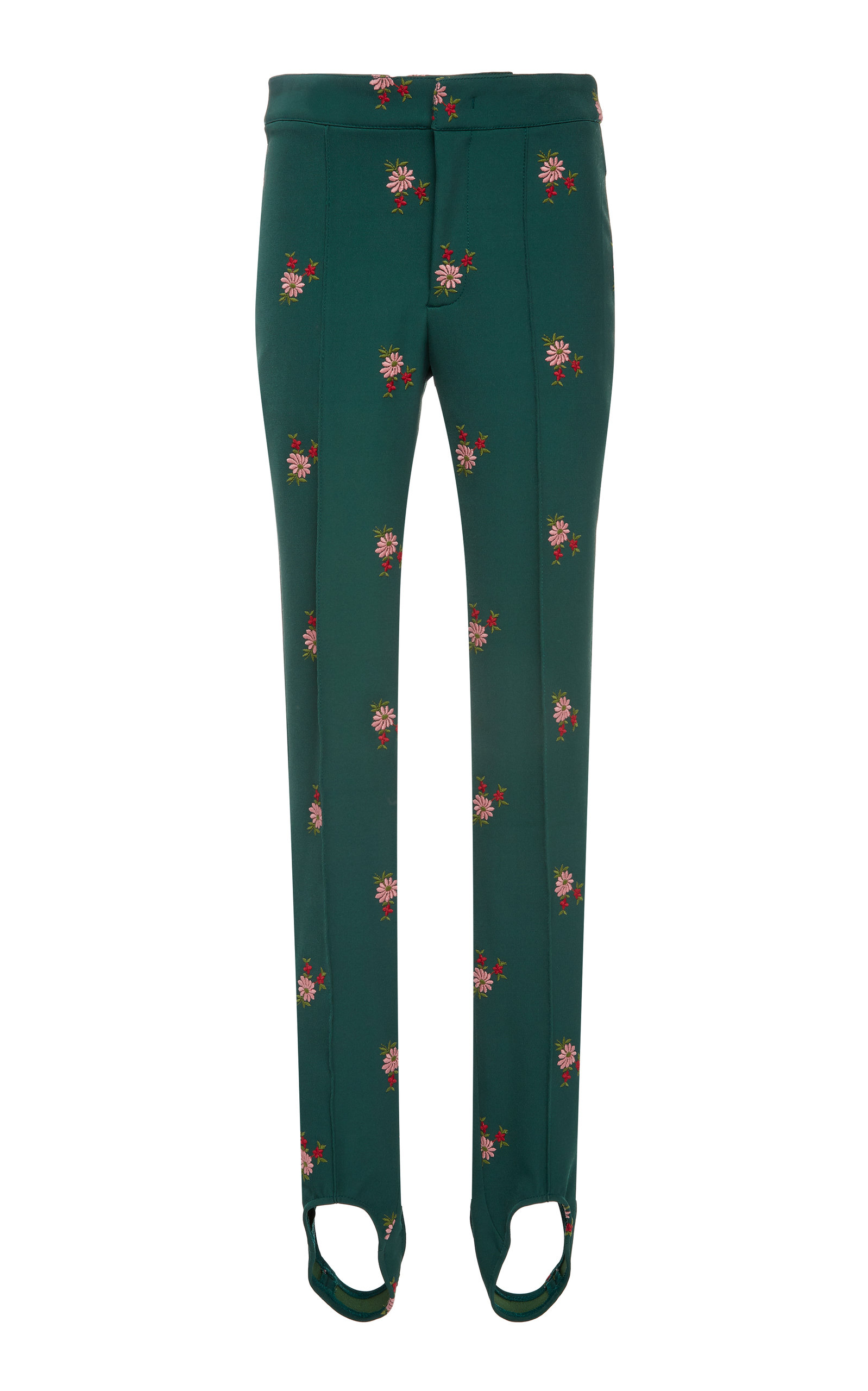 6080ce2063 Floral-Embroidered Stretch-Twill Stirrup Ski Pants by Moncler Genius ...