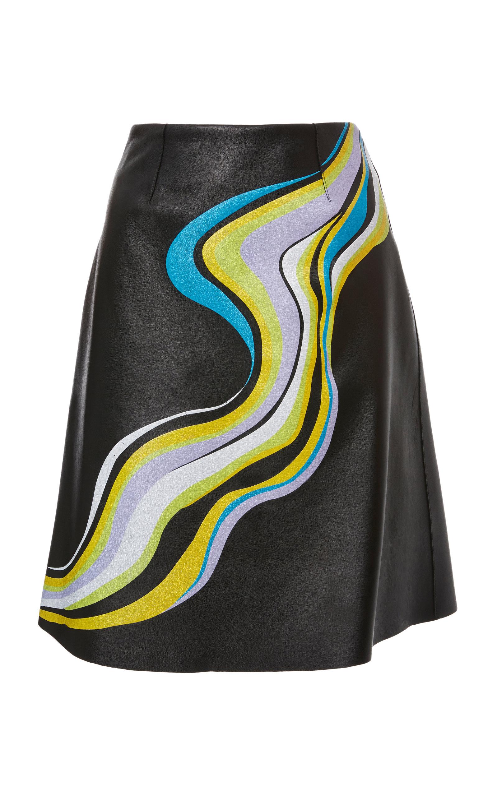JEFFREY DODD Swirl Printed Circle Skirt