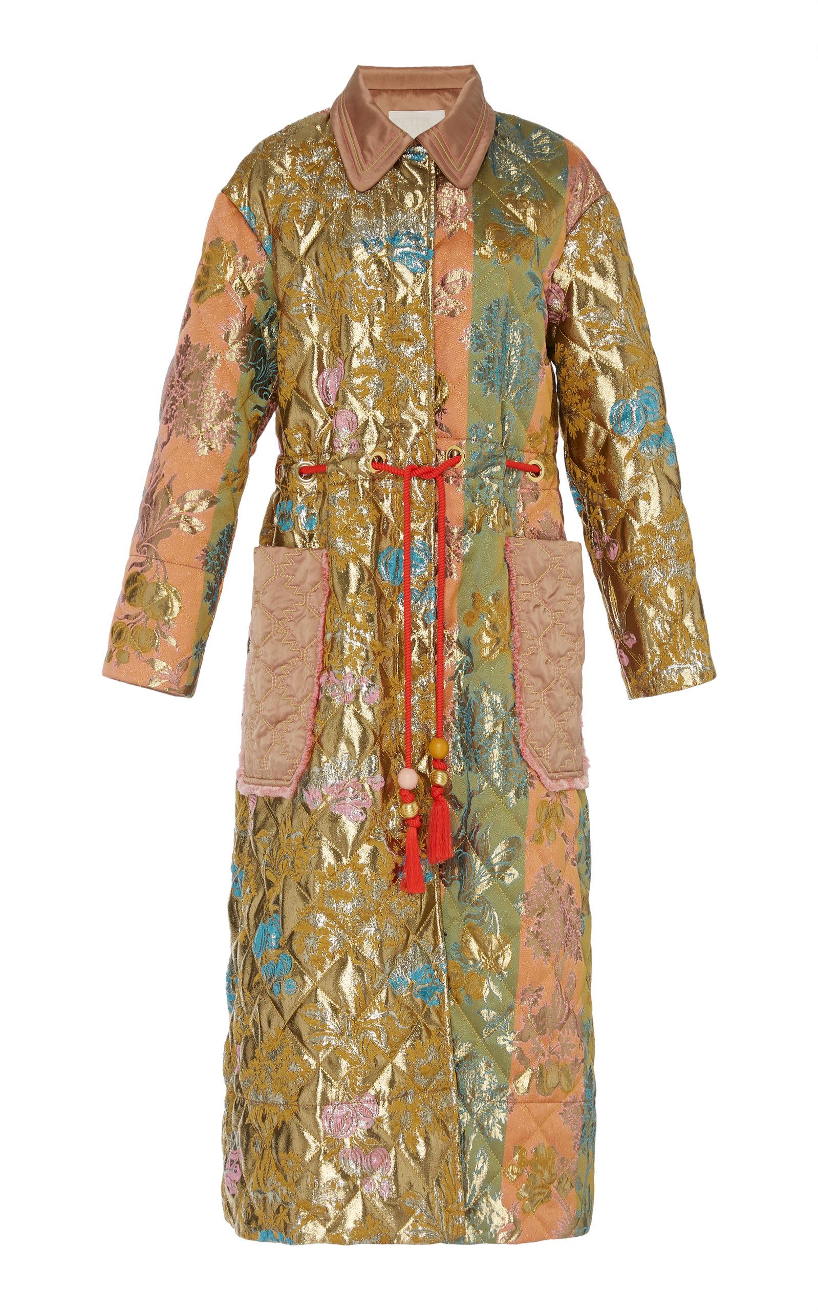 Peter Pilotto metallic jacquard coat Choice Sale Online Best Store To Get Sale Online CNxsH4q