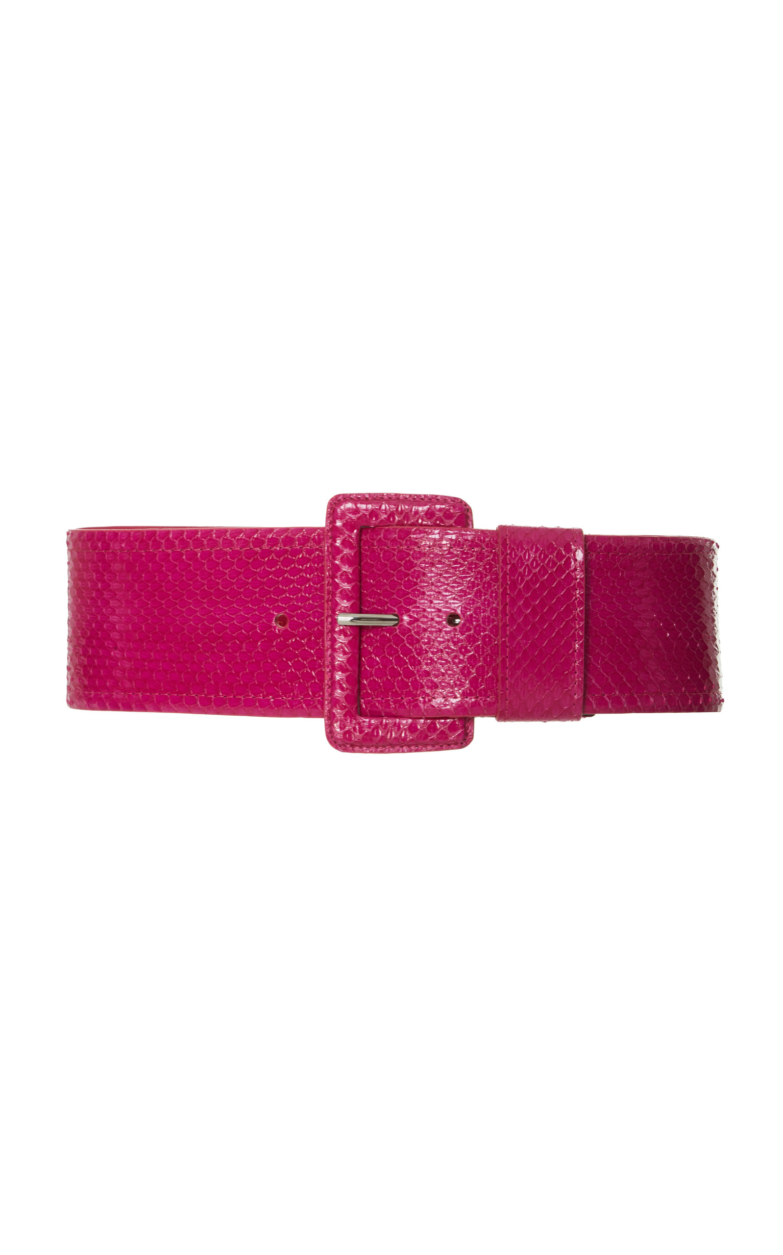SNAKESKIN WIDE BELT