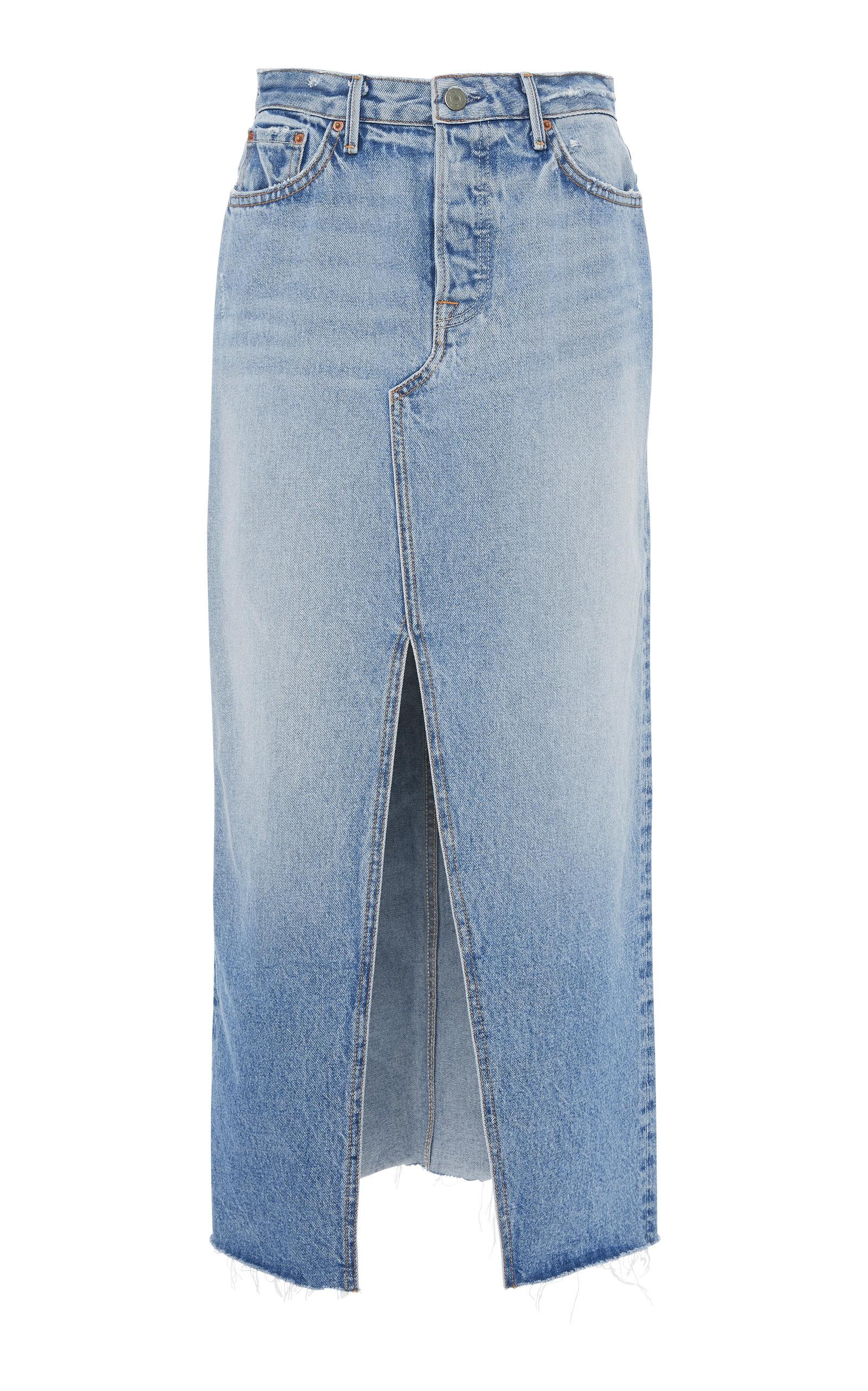 Clearance Newest Isla Denim Midi Skirt GRLFRND Sale Best Free Shipping Best Place Cheap Best Wholesale IXEJWajHlc