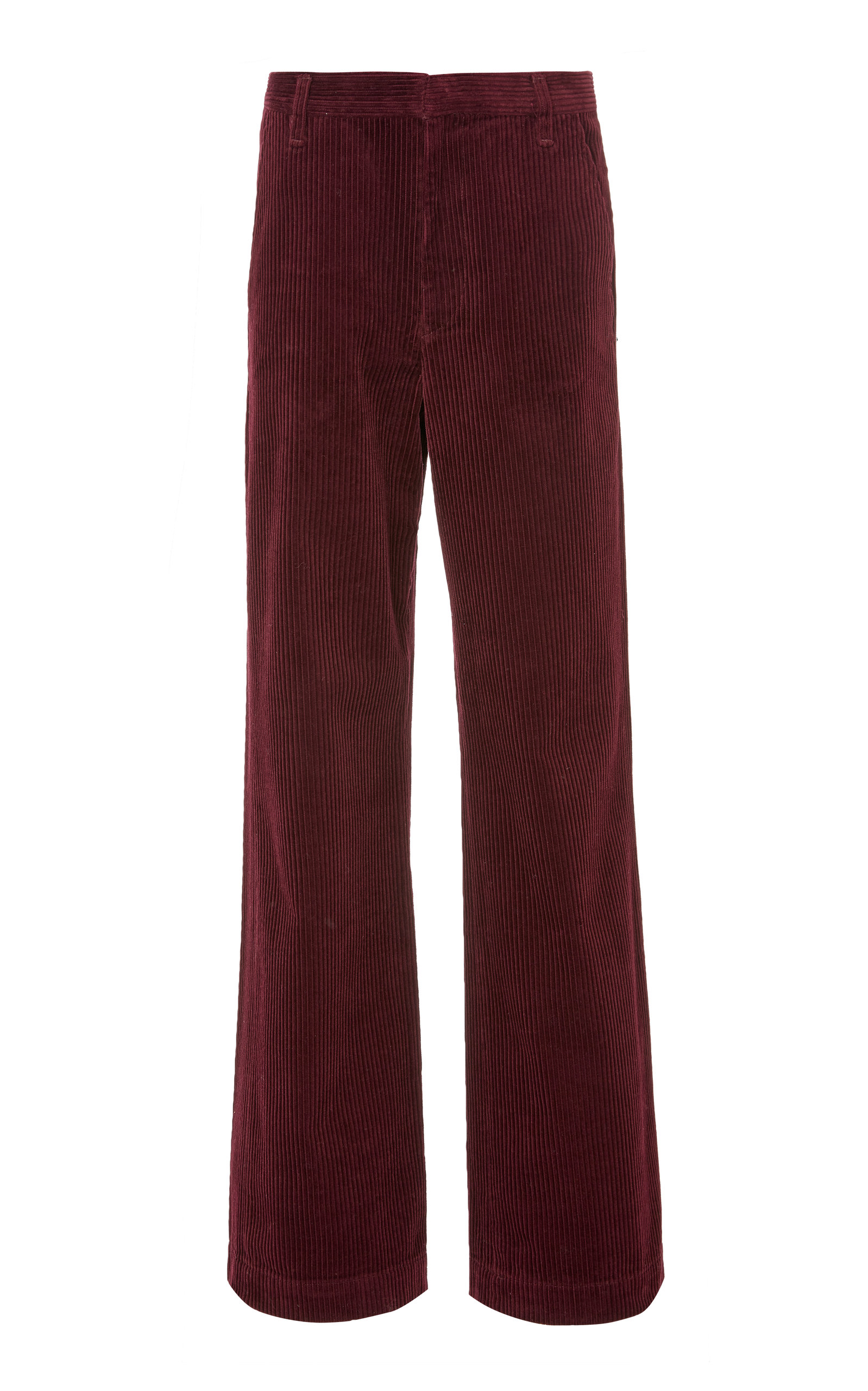 GOLDSIGN CORDUROY FLAT FRONT TROUSERS