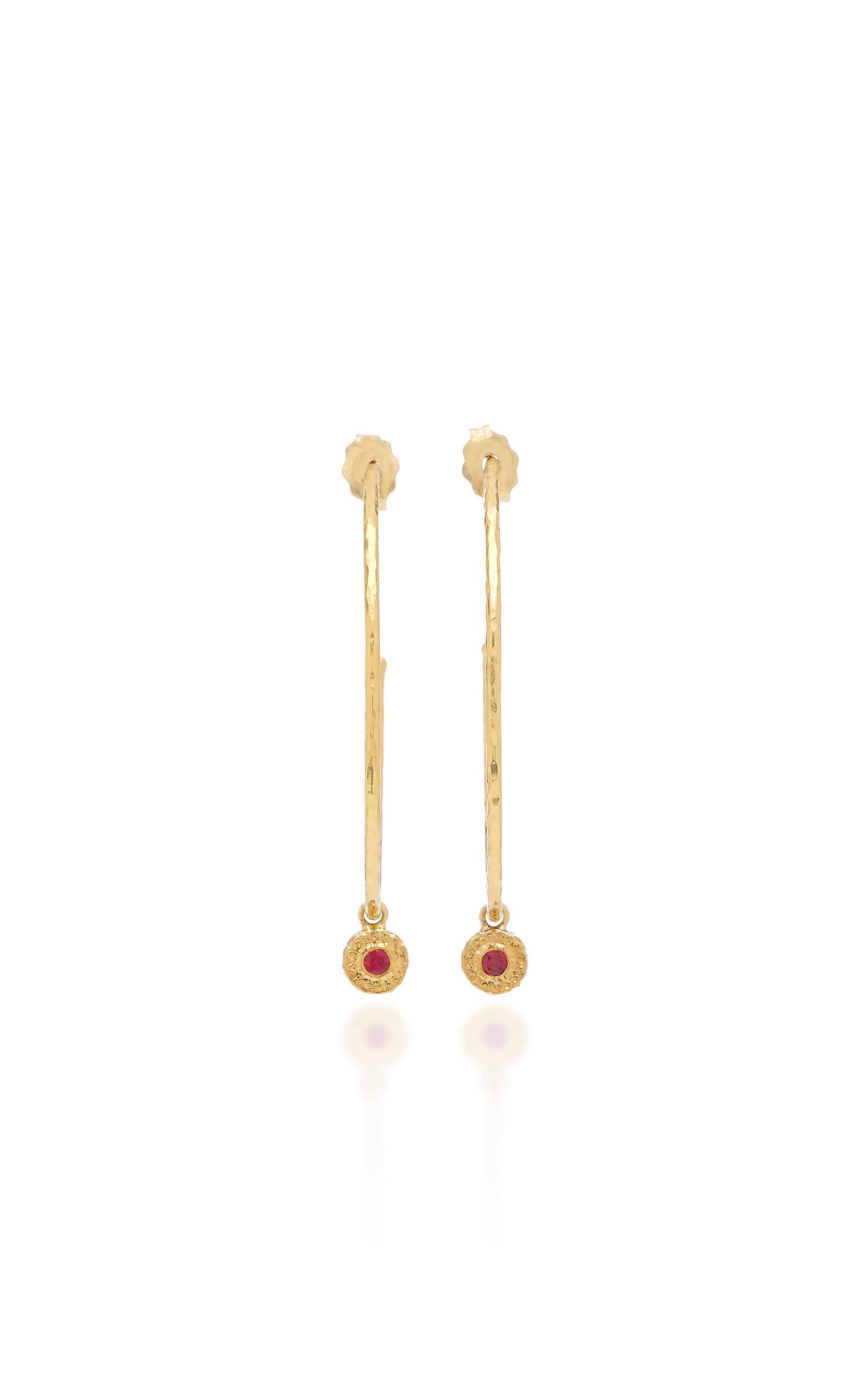 b77cbff10 Octavia ElizabethNesting Gem Ruby and 18K Gold Hoop Earrings. CLOSE.  Loading. Loading