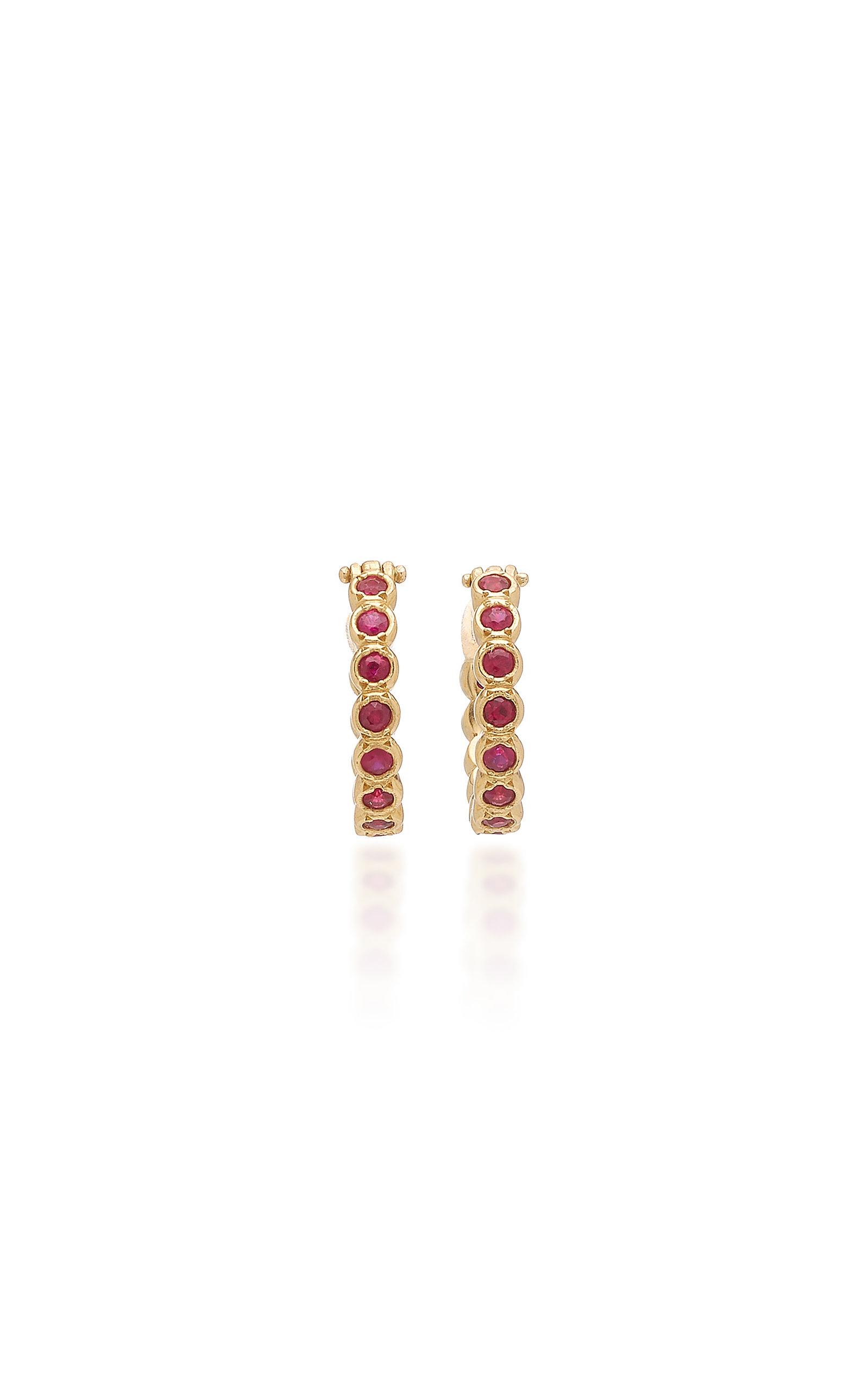 18e757832 Octavia ElizabethChloe Ruby and 18K Gold Hoop Earrings. CLOSE. Loading.  Loading