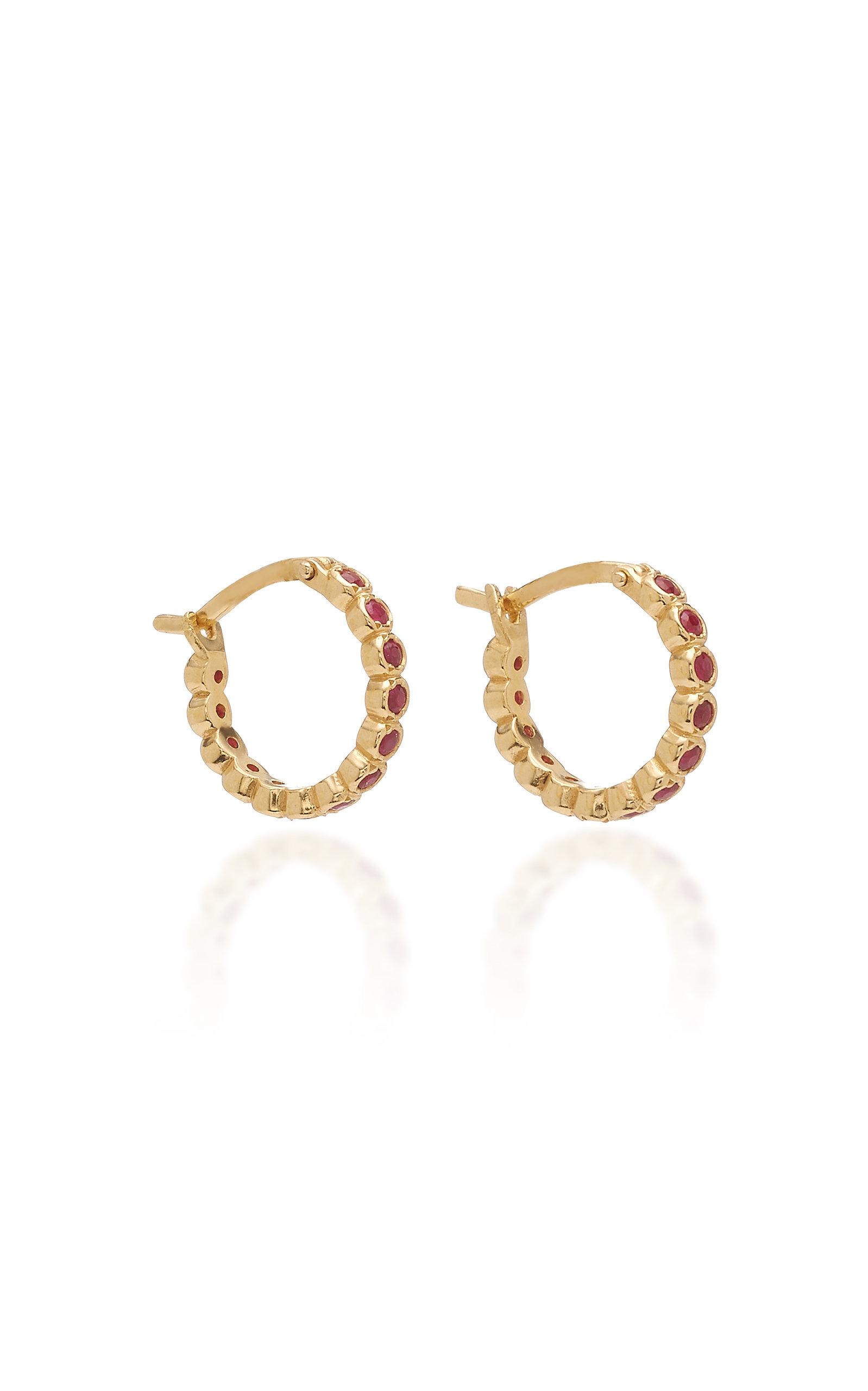 193cc33c6 Chloe Ruby and 18K Gold Hoop Earrings by Octavia Elizabeth | Moda ...
