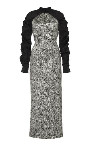 ELEANOR BALFOUR | Eleanor Balfour Exclusive Lulu Ruched Jacquard Midi Dress | Goxip