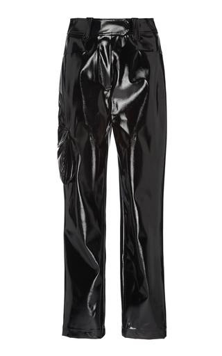 ELEANOR BALFOUR | Eleanor Balfour Exclusive Stephanie Cropped Straight-Leg Vinyl Pant | Goxip