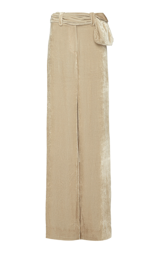 ELEANOR BALFOUR | Eleanor Balfour M'O Exclusive Kira Velvet Wide-Leg Pant | Goxip