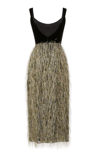 Disco Tech Fringe Velvet Midi Dress Markarian Outlet Find Great Free Shipping Best Place Natural And Freely cXu82SM