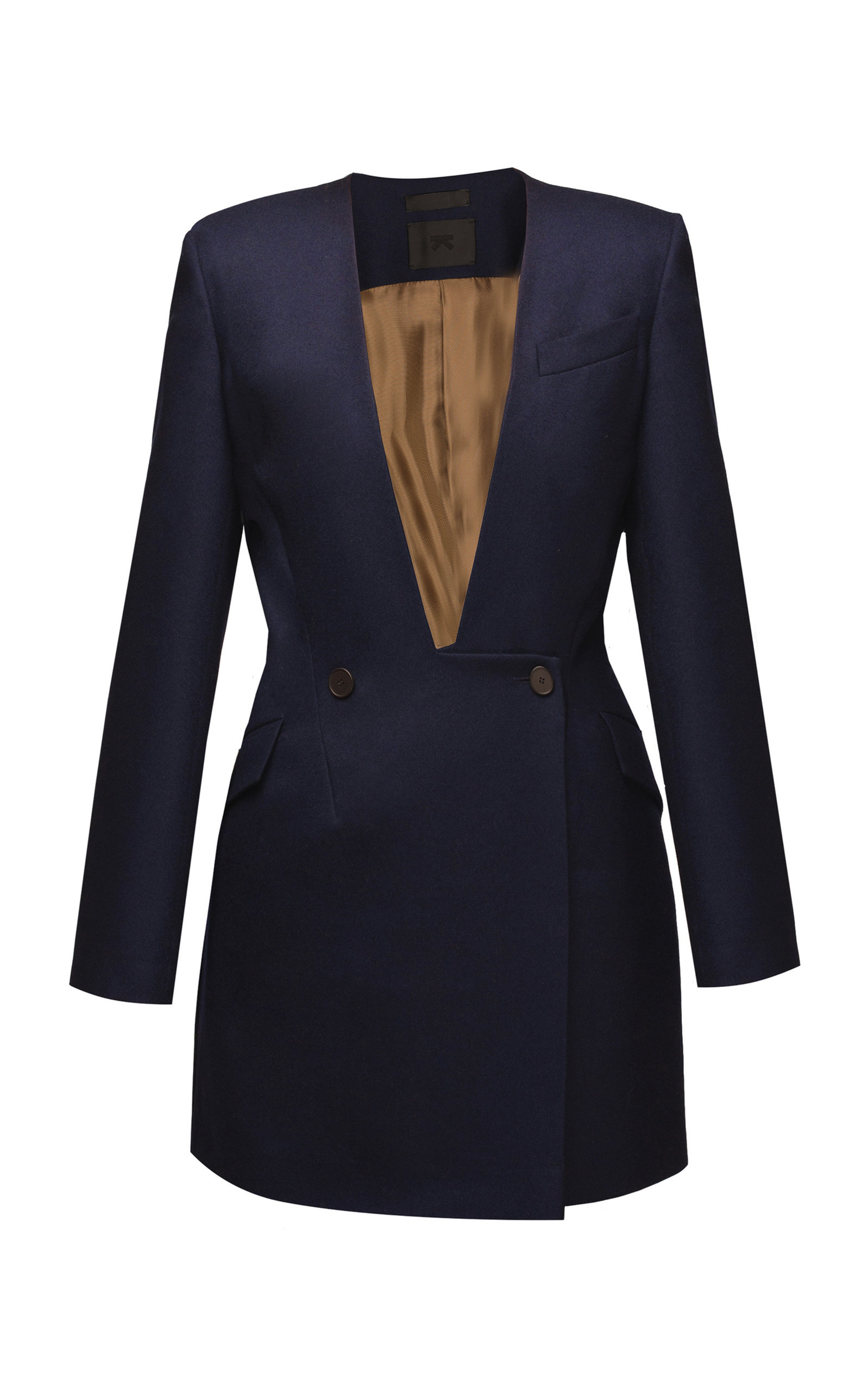 LAKE STUDIO NAVY COAT DRESS