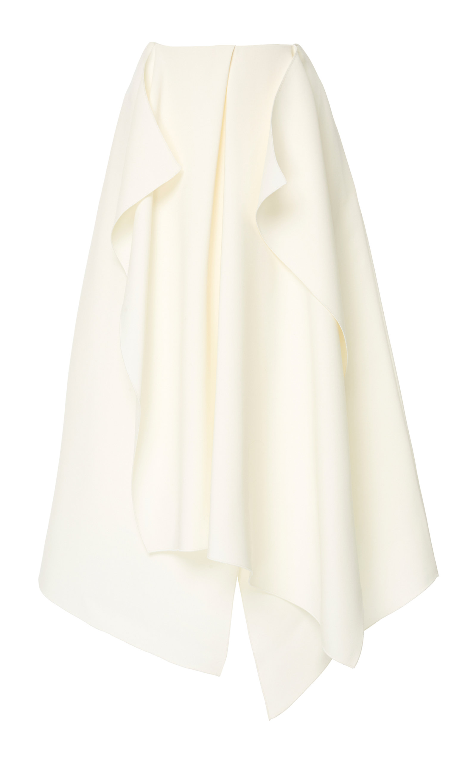YEON M'O Exclusive Phoebe Pleated Wool And Silk-Blend Midi Skirt in White