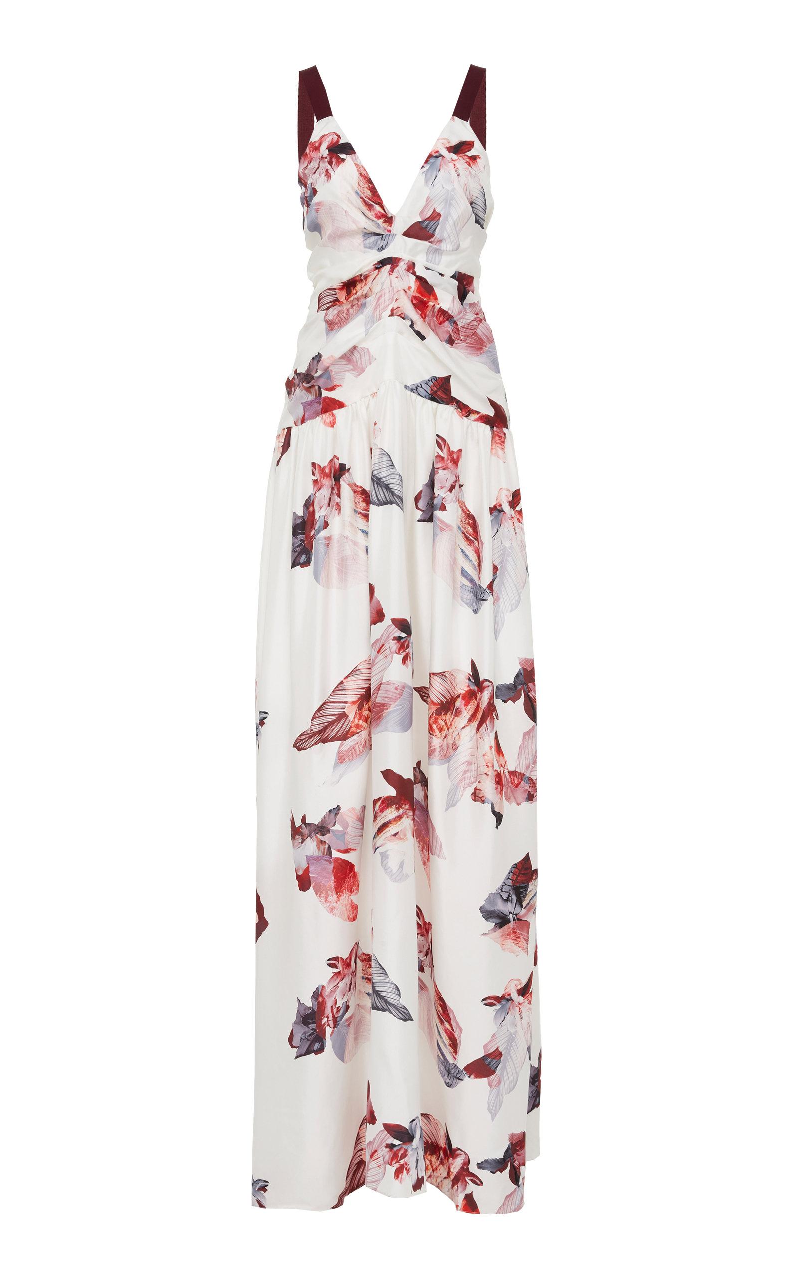 YEON THALIA FLORAL SILK DRESS