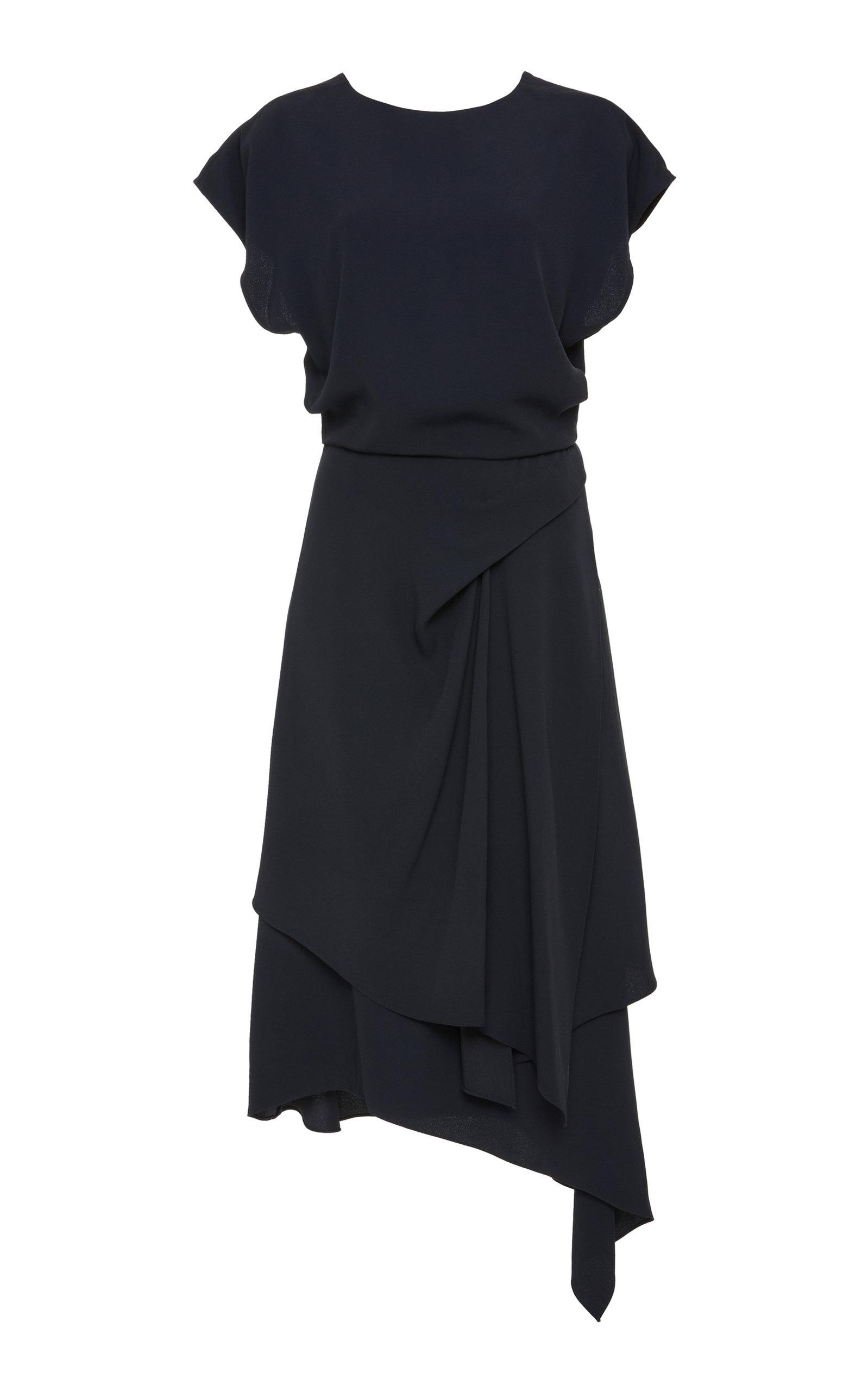 YEON TERPSICHORE ASYMMETRIC CREPE DRESS