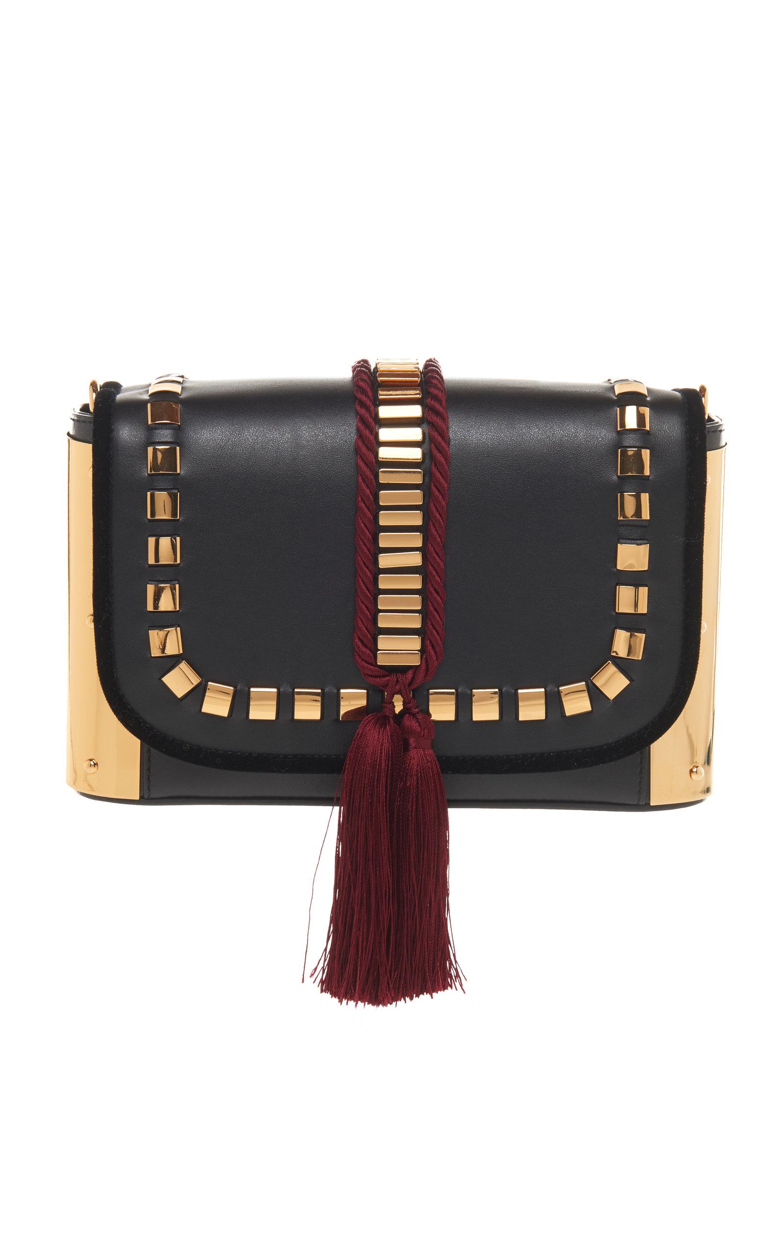 009395d0b39 Leather And Metal Tassel Bag by Alberta Ferretti | Moda Operandi