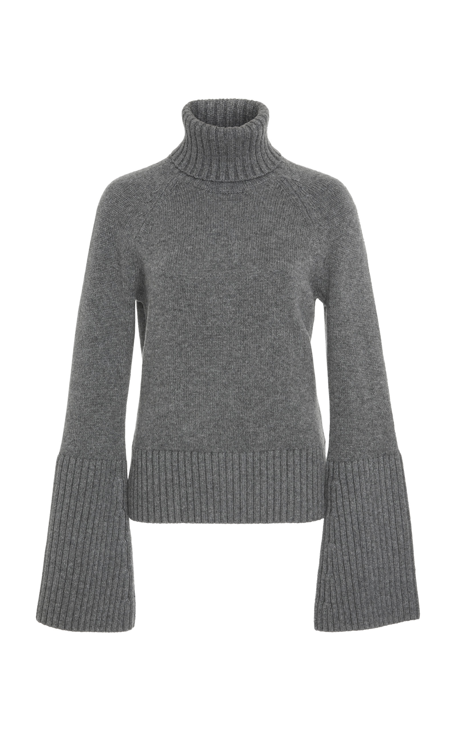 Bell Sleeve Cashmere Turtleneck Sweater by Michael Kors Collection