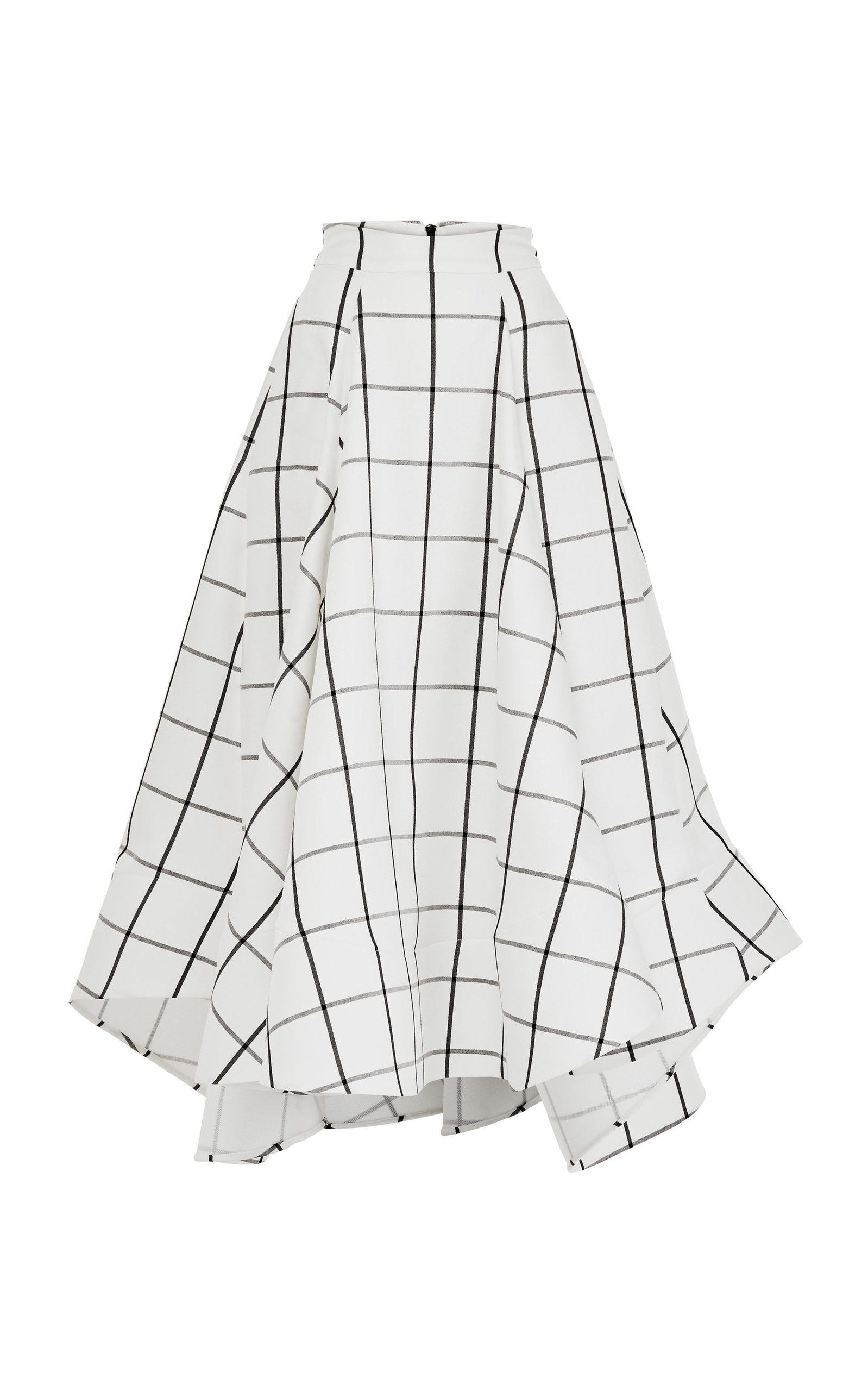 MATICEVSKI Promising Asymmetric Crepe Midi Skirt in White