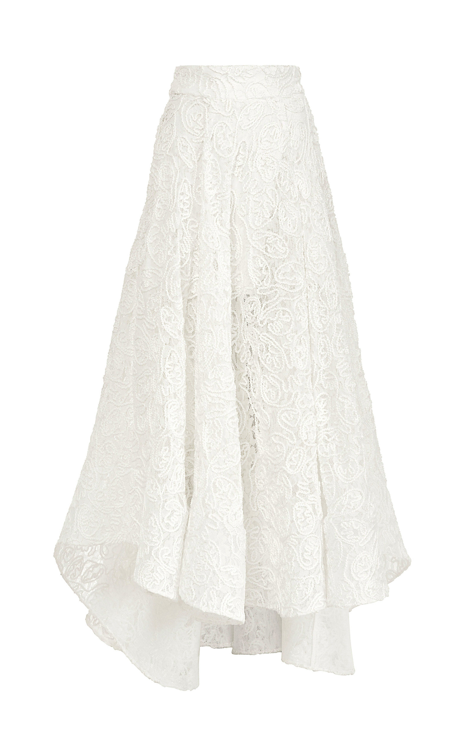 MATICEVSKI PROMISING EMBROIDERED LACE MIDI SKIRT