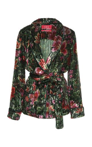 FOR RESTLESS SLEEPERS | For Restless Sleepers Armonia Floral Velvet Wrap Top | Goxip