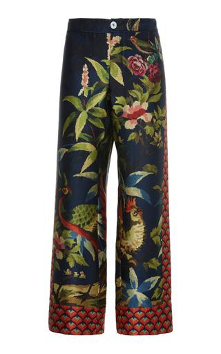 FOR RESTLESS SLEEPERS | For Restless Sleepers Ceo Printed Silk Straight-Leg Pants | Goxip