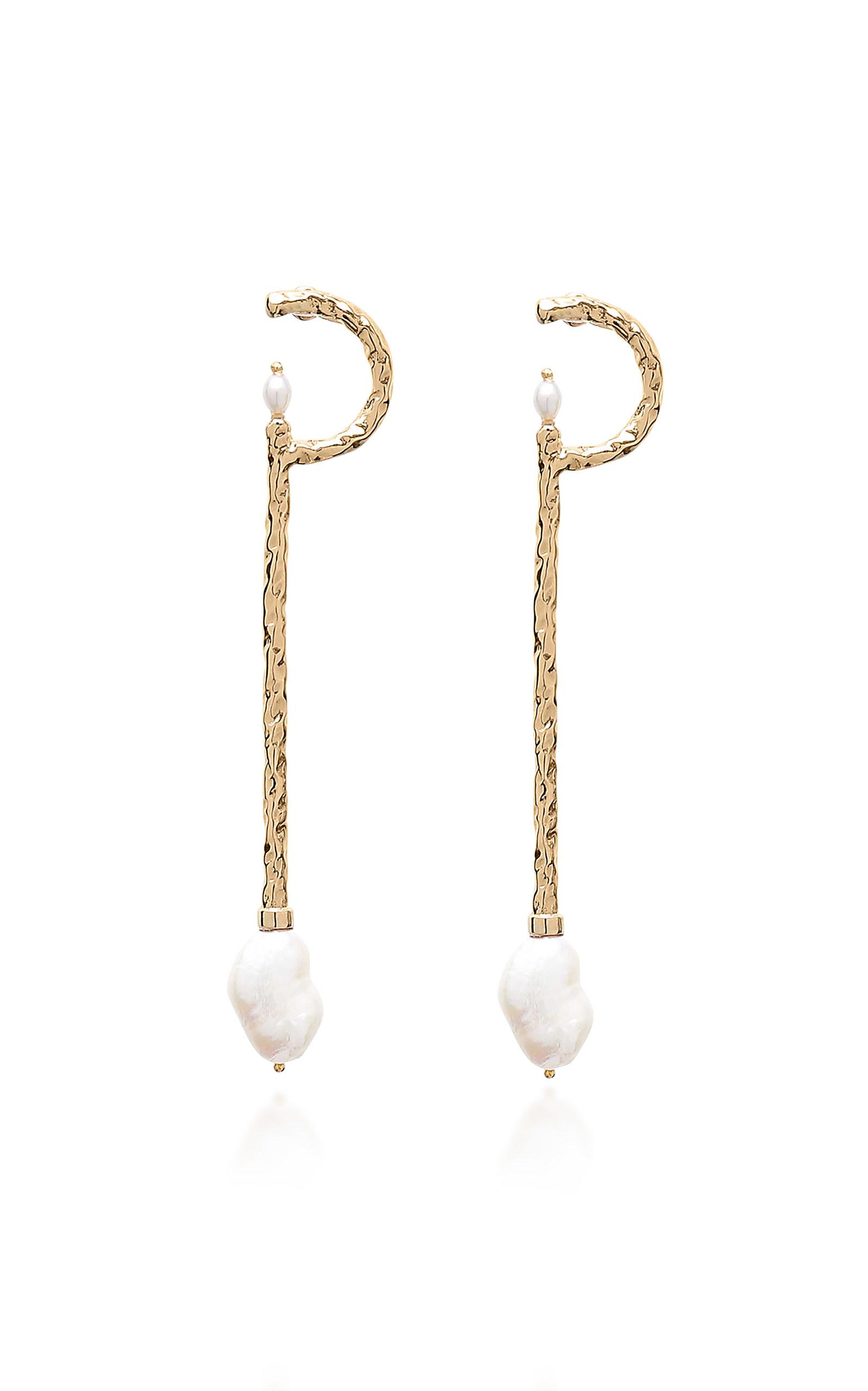 ALICAN ICOZ X ATTICO Girls Drop Earrings in Gold