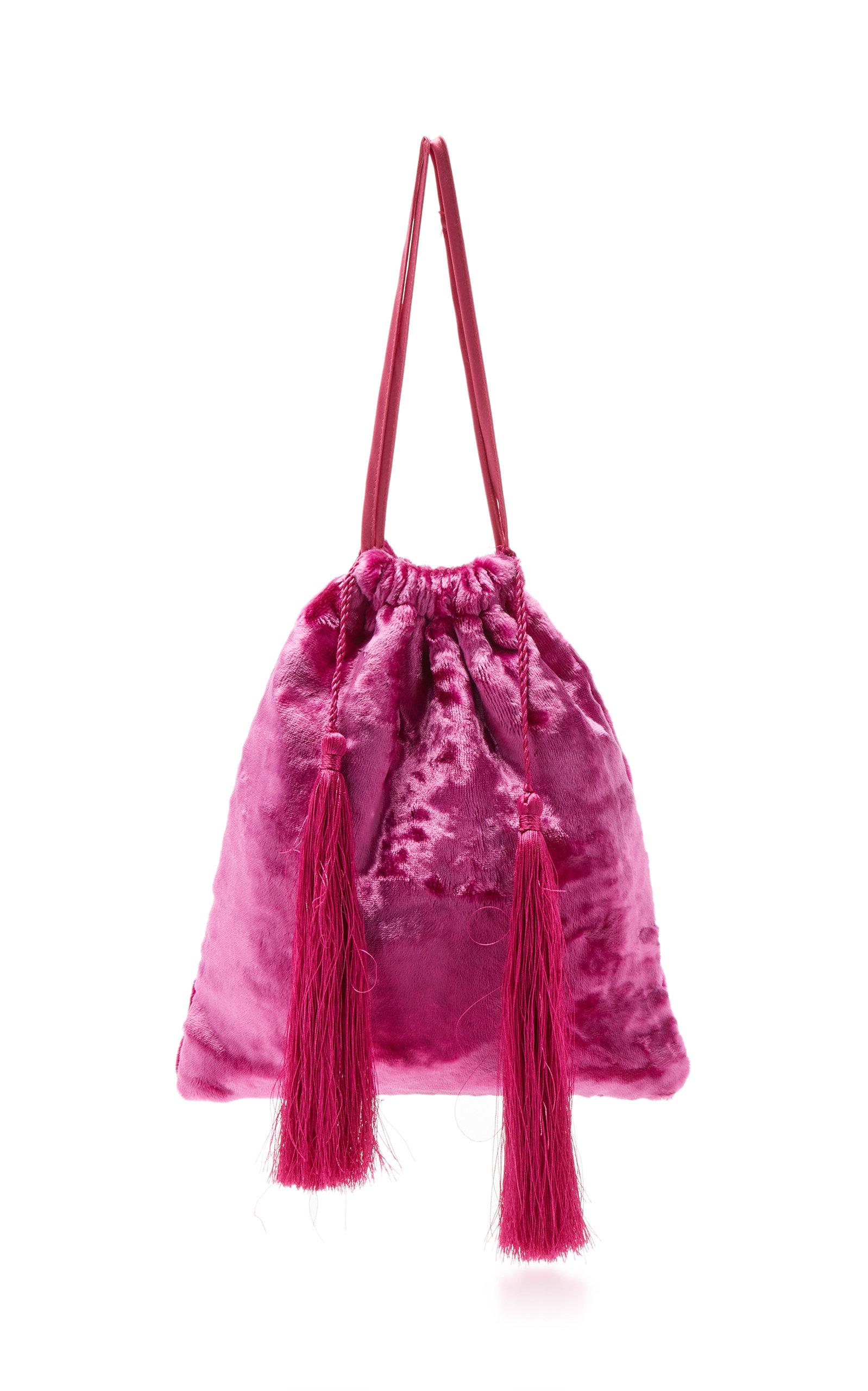 Velvet Embroidered Pouch Bag Attico TpAdWBN3I