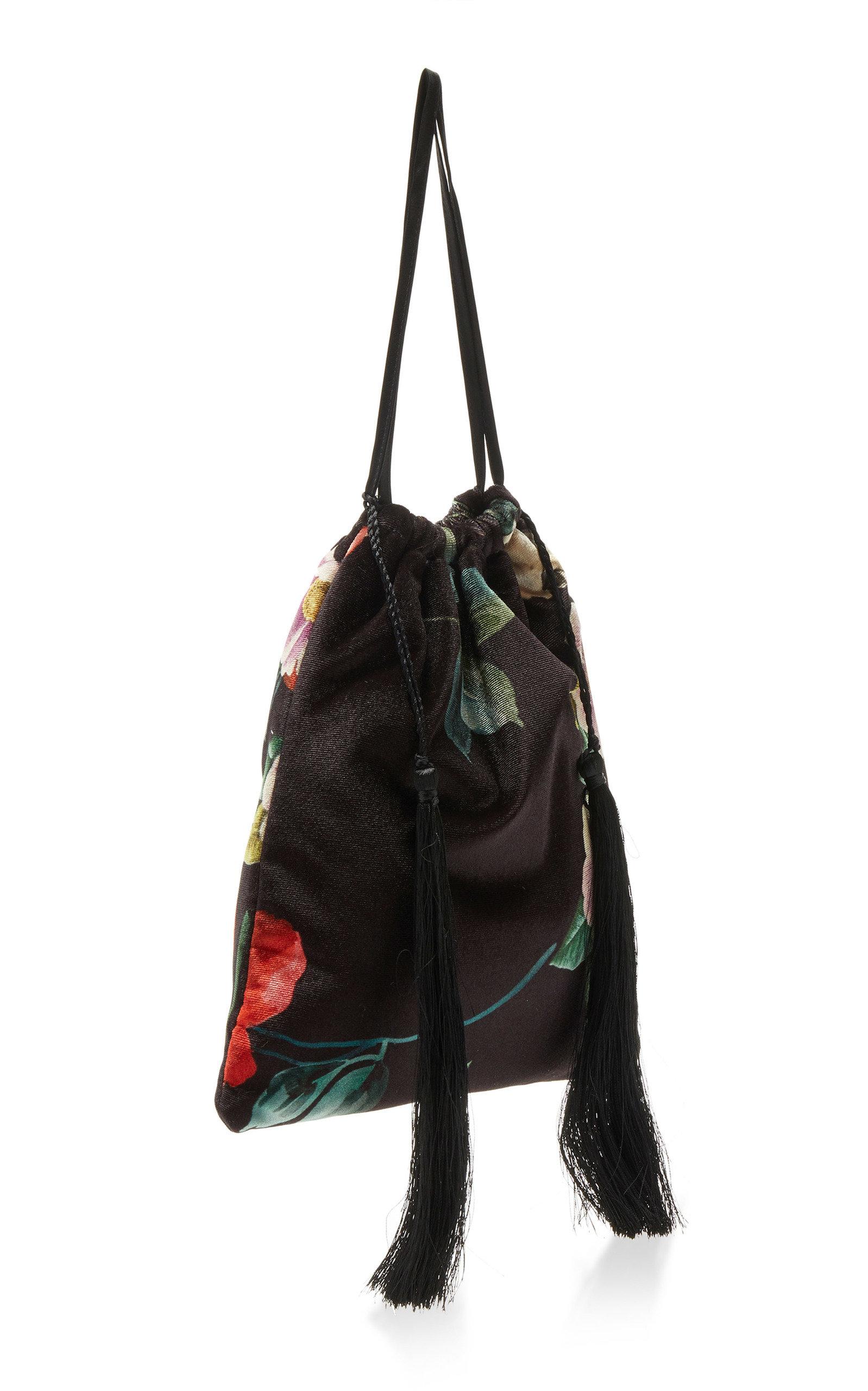 Printed Velvet Pouch Bag Attico GyoZI