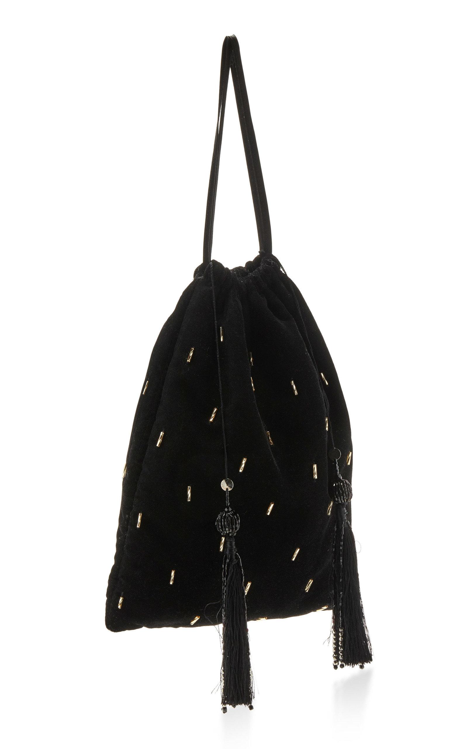 Printed Velvet Pouch Bag Attico FJPGSn