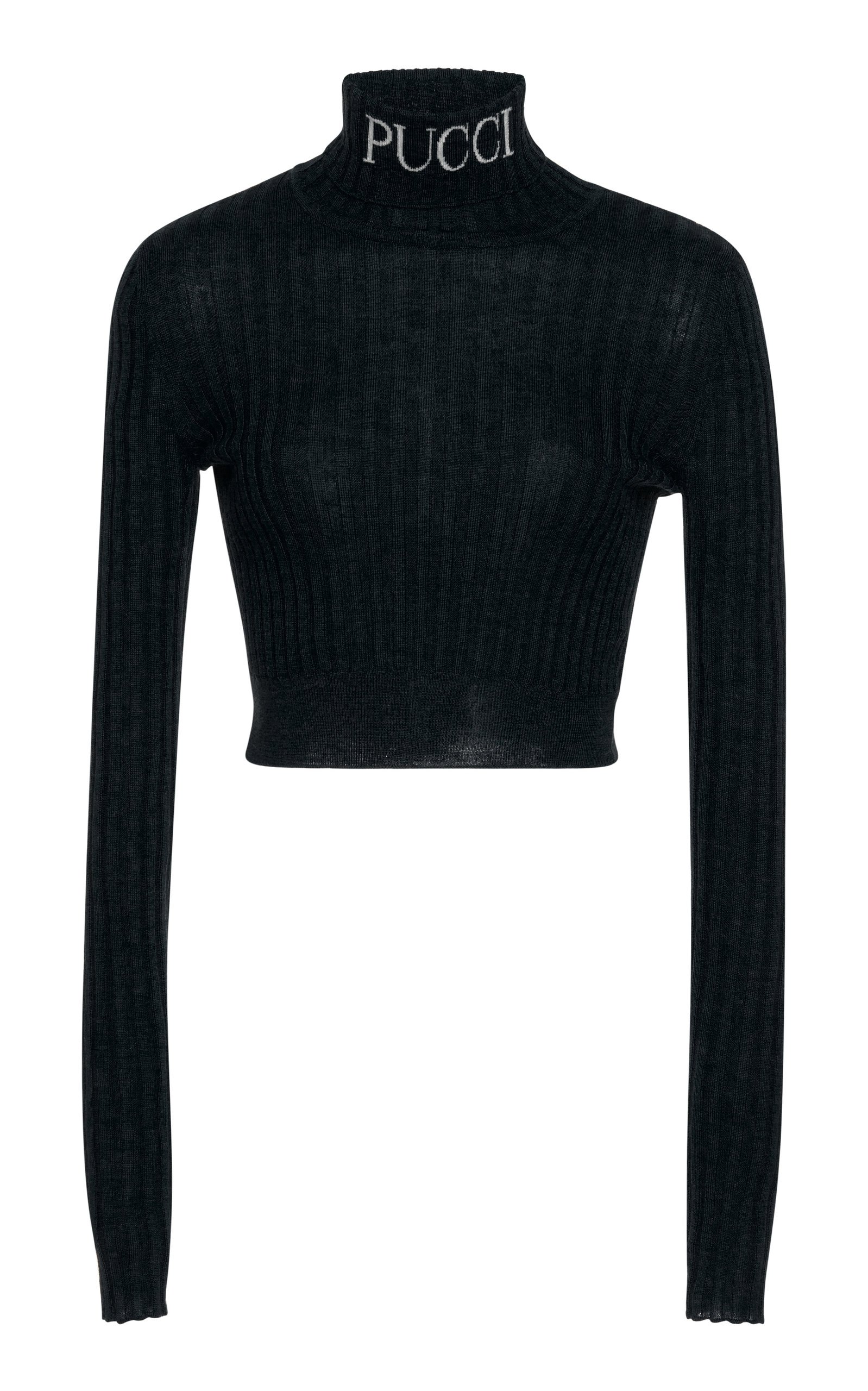 a28478111651 Cropped Turtleneck Pullover by Emilio Pucci
