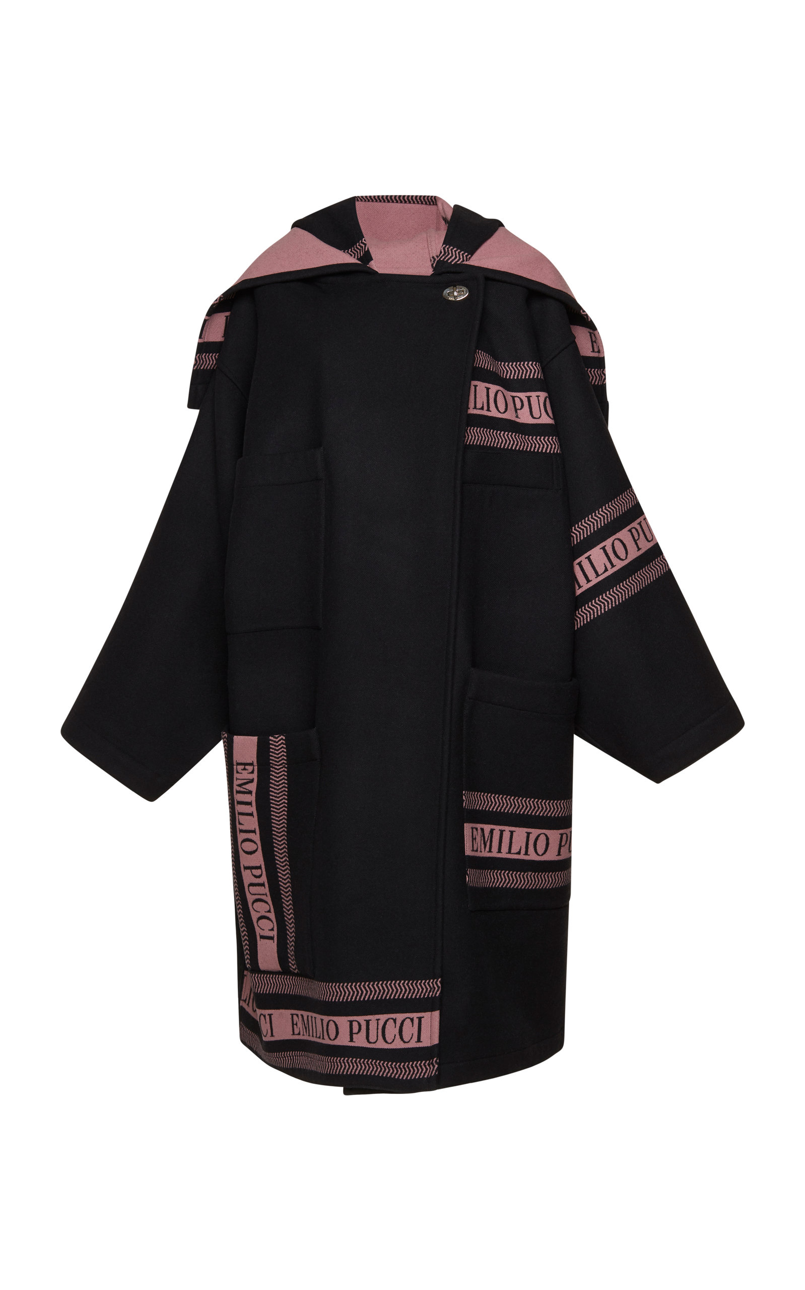 e4789beffc30 Wool Hooded Coat by Emilio Pucci