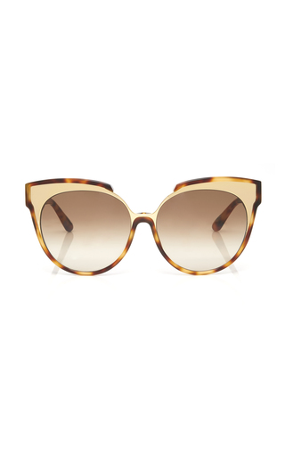 LINDA FARROW | Linda Farrow Cat-Eye Tortoiseshell Acetate And Metal Sunglasses | Goxip