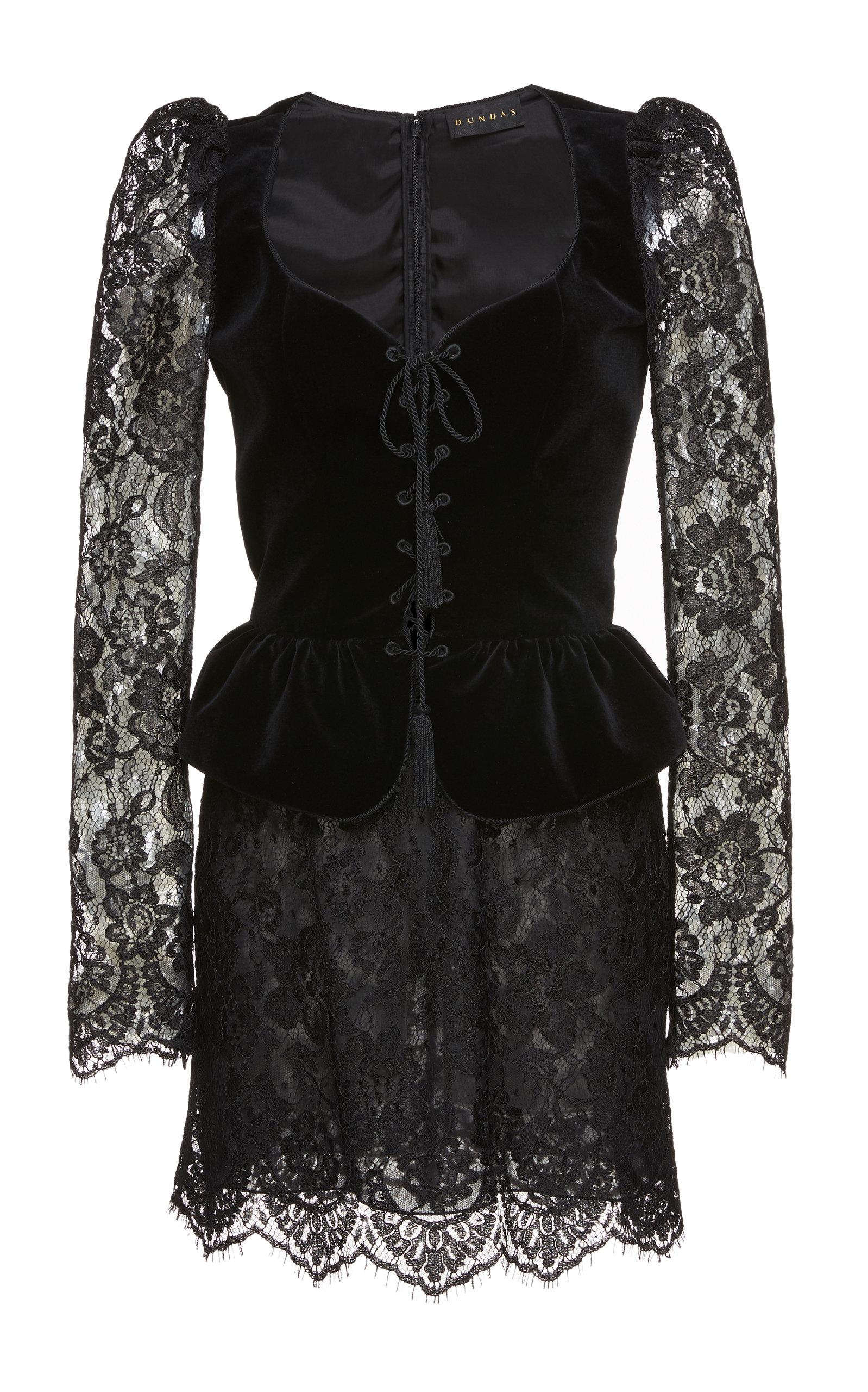 17f161e7753d Bustier Velvet Mini Dress by Dundas   Moda Operandi