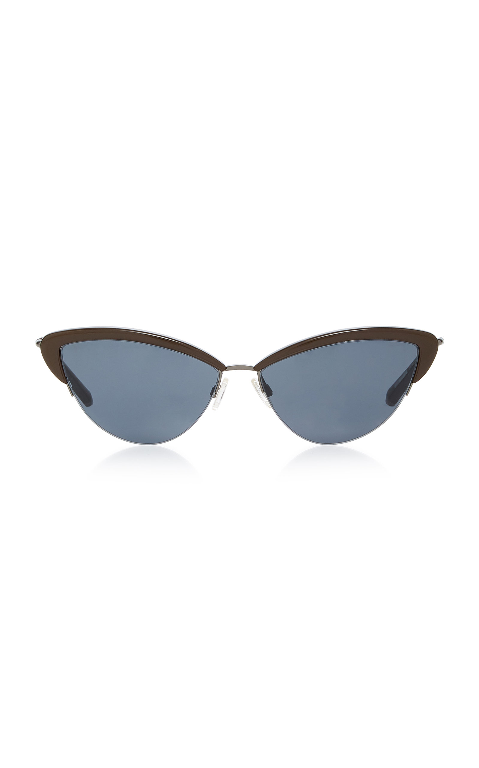 KATE YOUNG Ally Cat-Eye Acetate And Stainless-Steel Sunglasses in Neutral