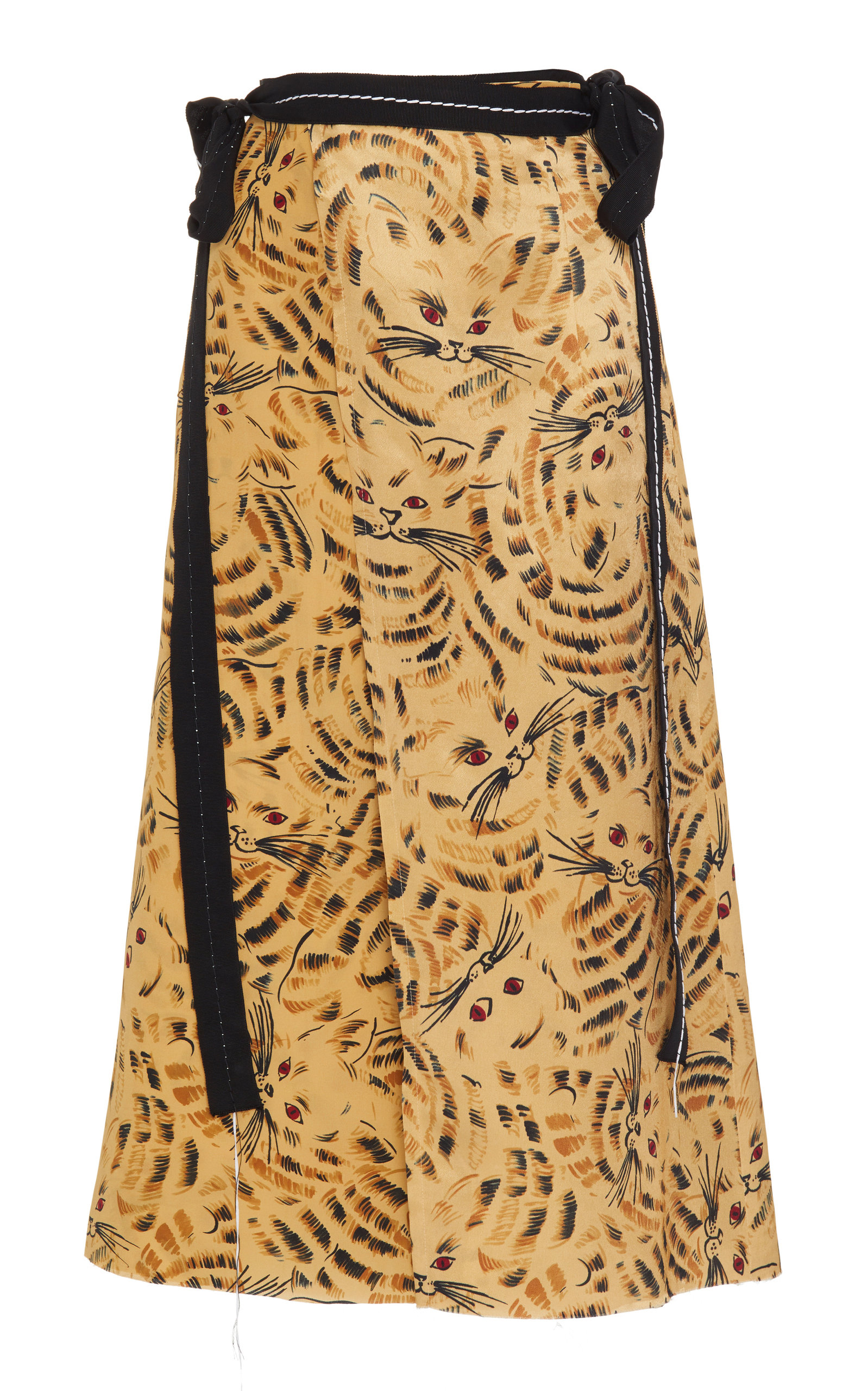 Pay With Visa For Sale Hot Sale Joe Printed Satin Midi Skirt Marni 100% Authentic For Sale Aberdeen f1GWMJ