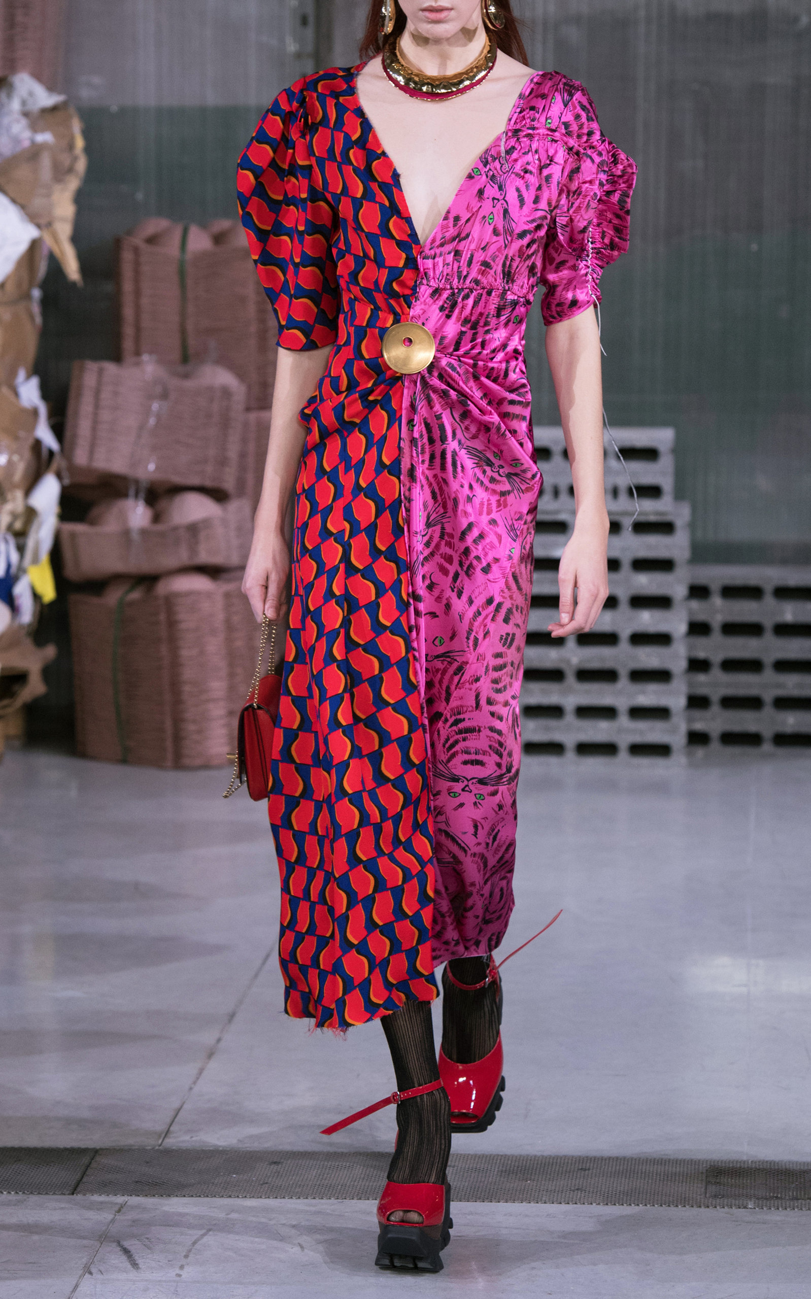 Joe Gathered Printed Satin Midi Dress Marni Discount Countdown Package Cheap How Much Clearance 2018 Unisex In China Sale Online Discount Fashion Style IF2jo