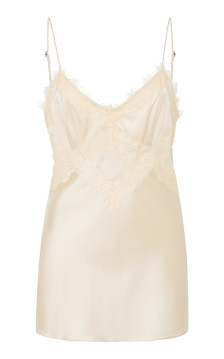 Dorothee Schumacher Shining Delicacy Lace-Trimmed Silk-Blend Camisole