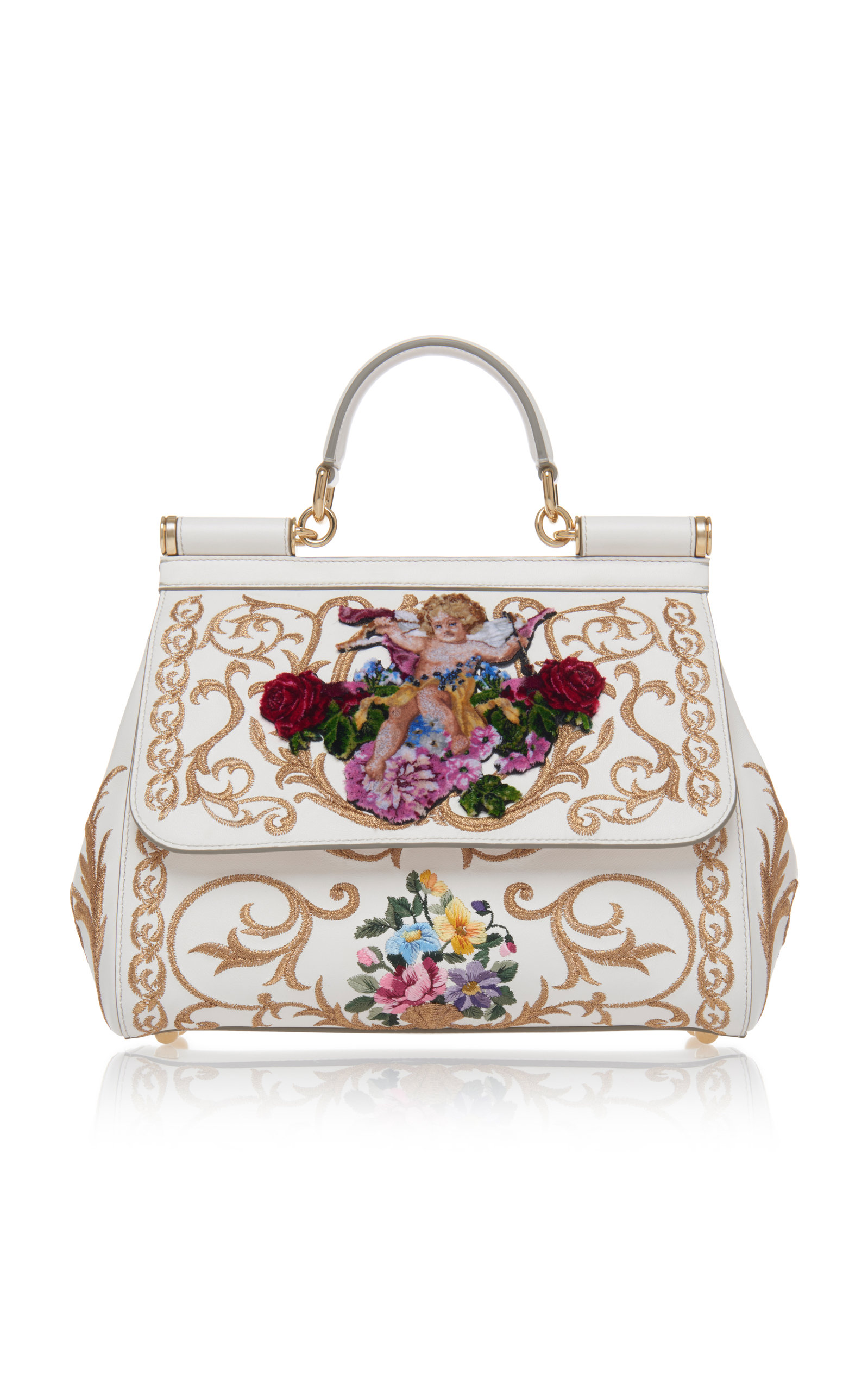 12a61b87d1 Embroidered Sicily Bag by Dolce   Gabbana