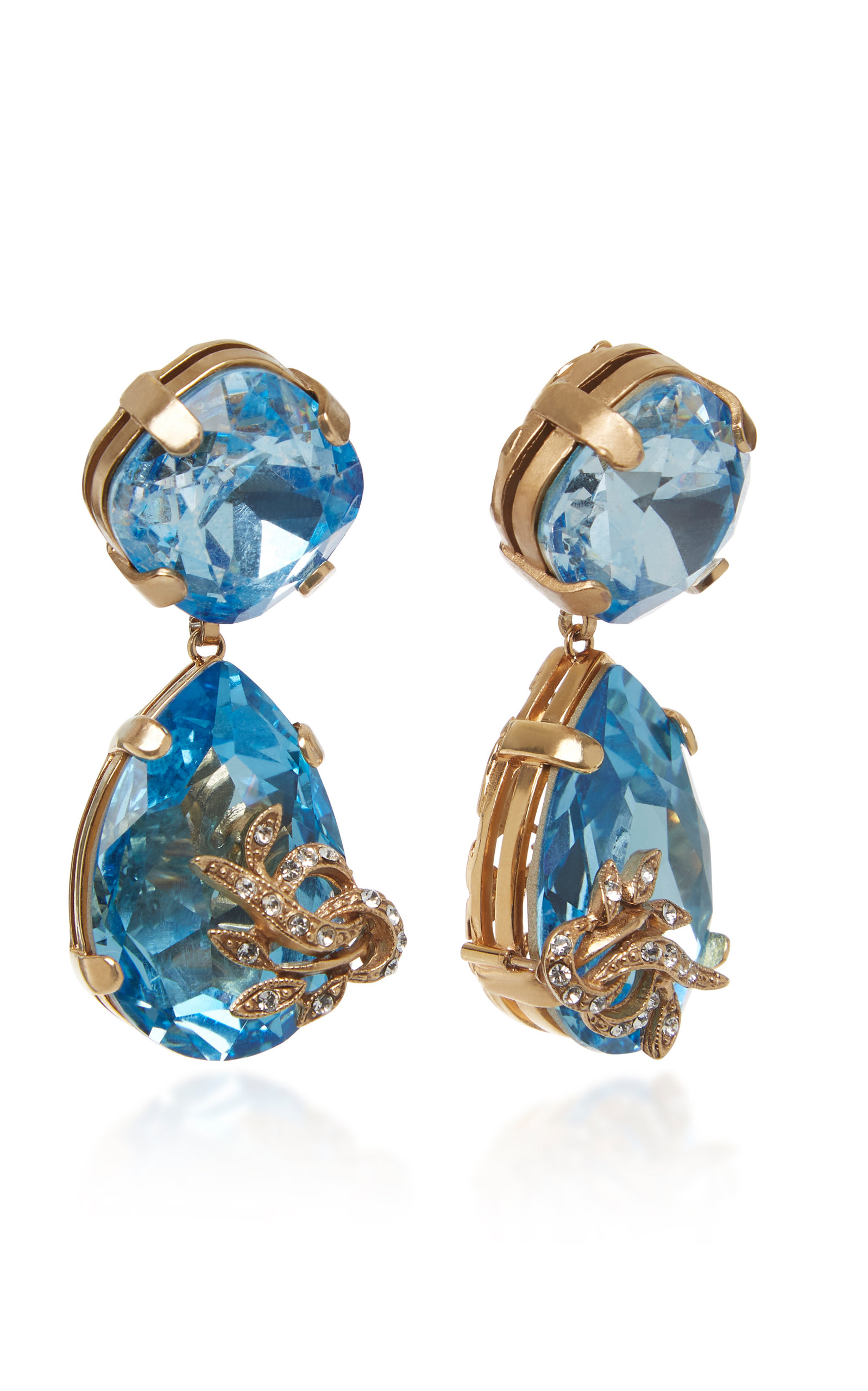 0c49fa8e6 Orecchini Strass Brass And Crystal Drop Earrings by Dolce & Gabbana ...