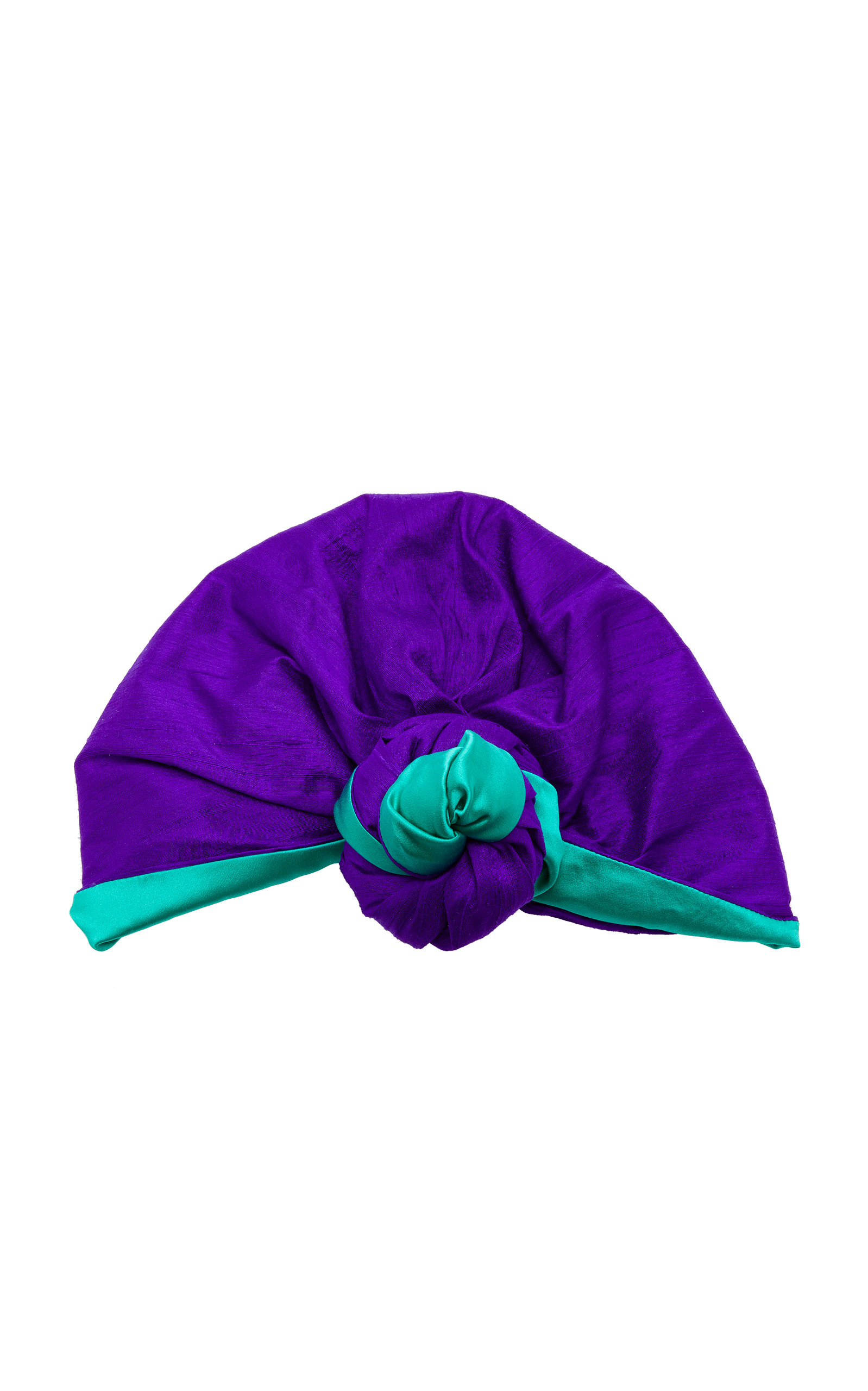 JULIA CLANCEY EDITH SILK-CHARMEUSE TURBAN