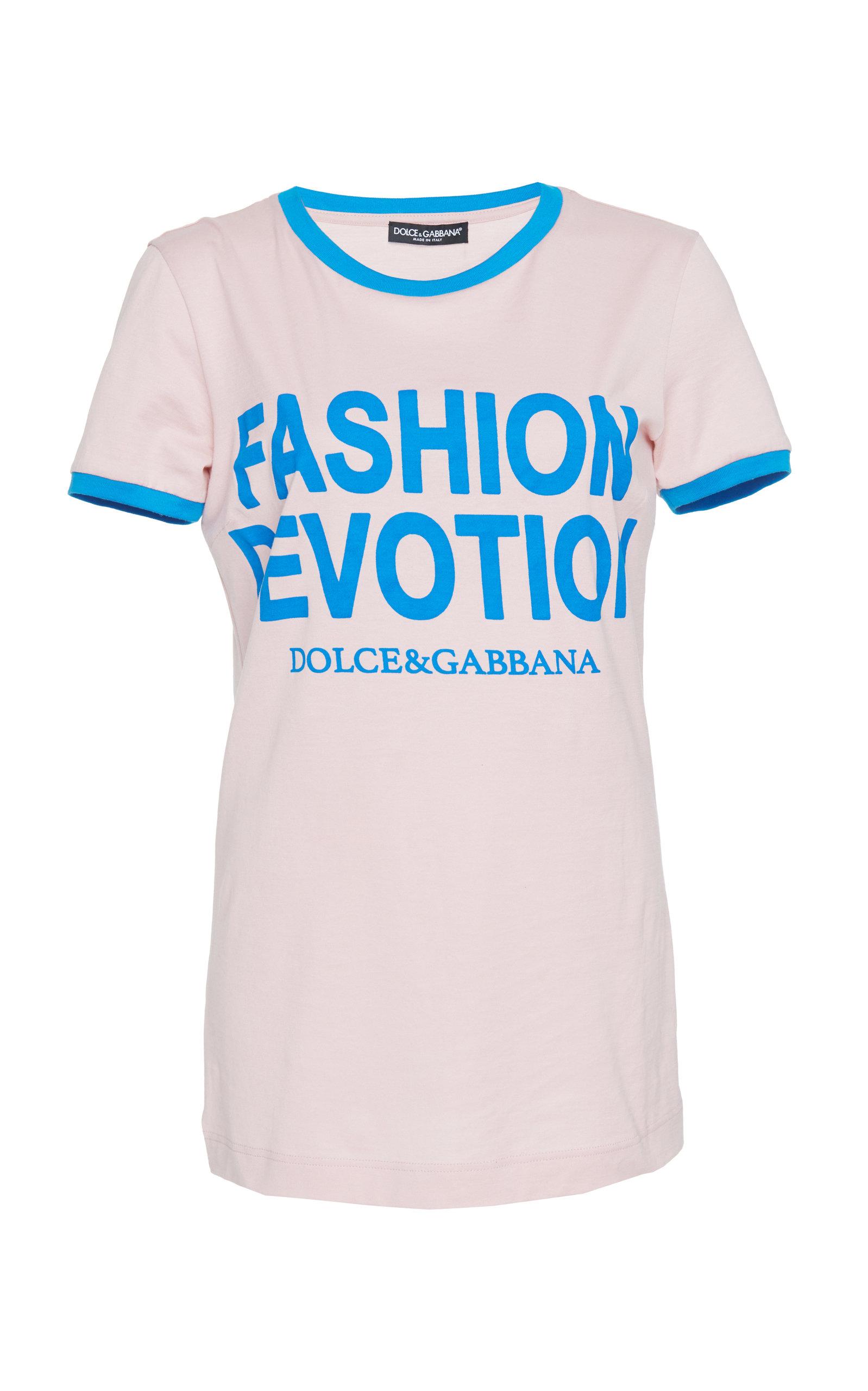 Fashion Devotion Printed Jersey T-Shirt, Pink