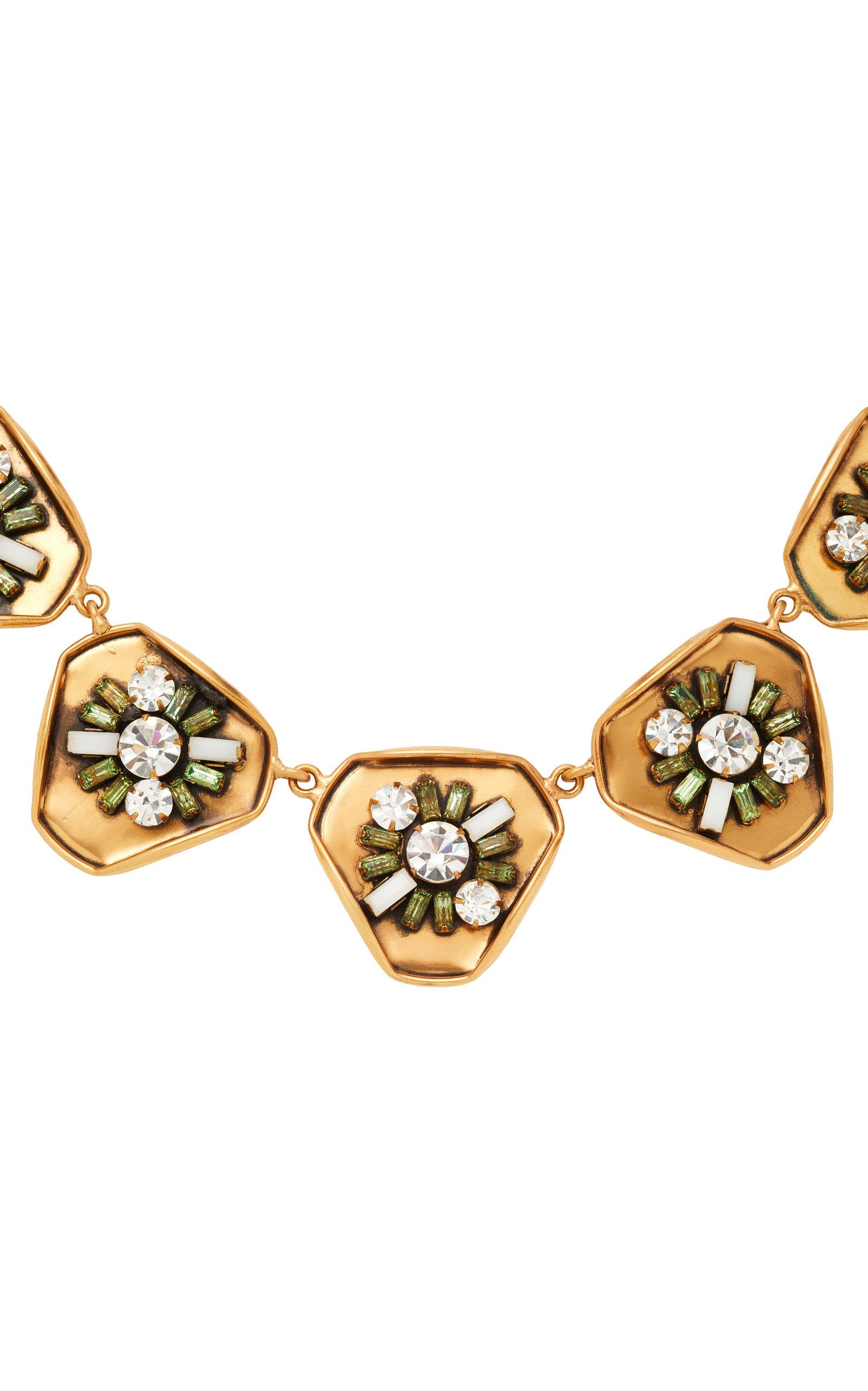 Gold-Plated Swarovski Crystal Necklace Nicole Romano 2ESOB